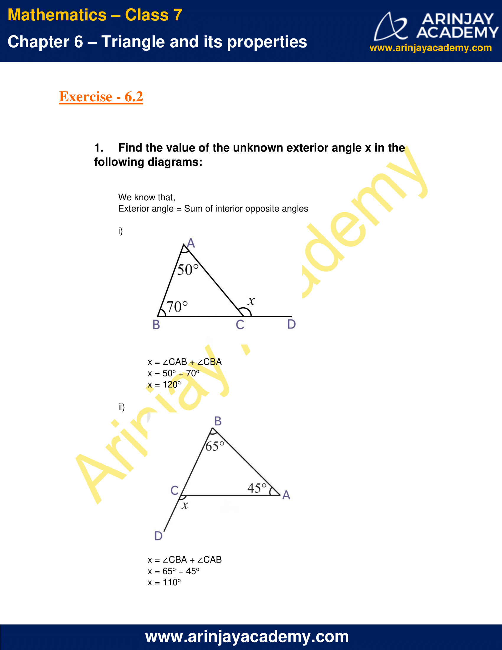 NCERT Solutions for Class 7 Maths Chapter 6 Exercise 6.2 image 1