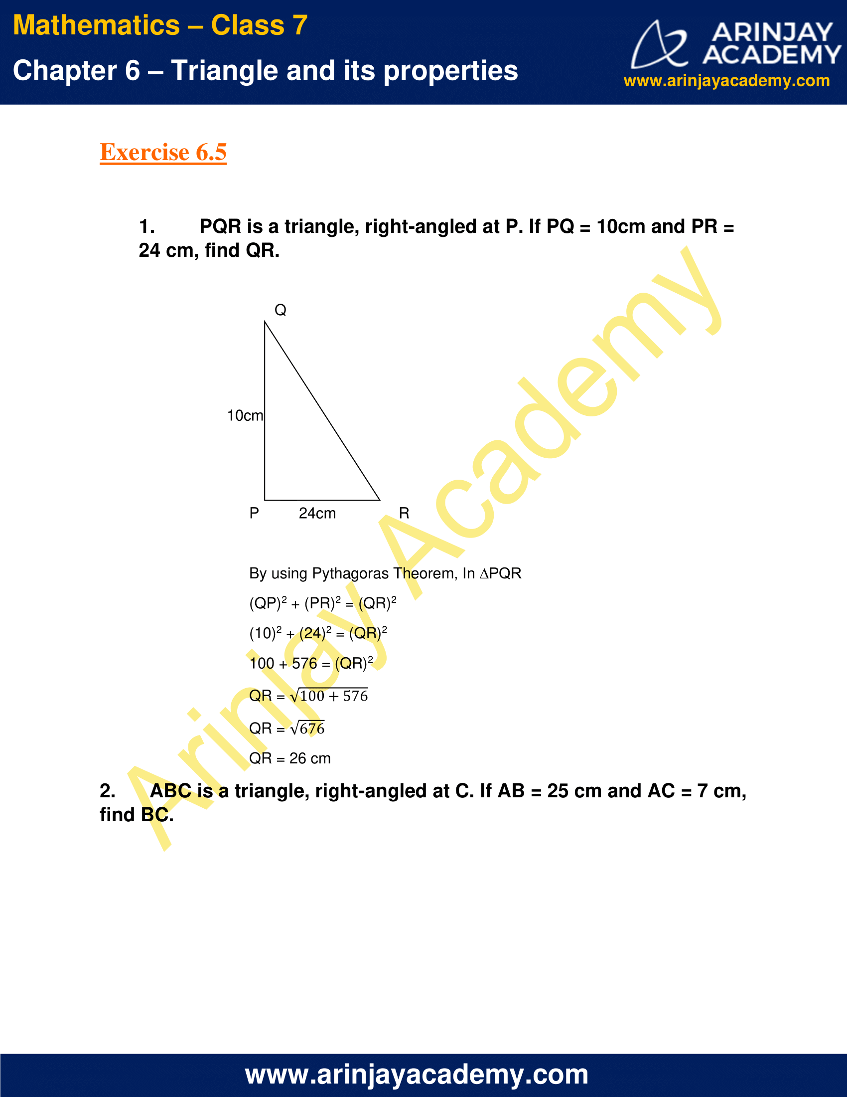 NCERT Solutions for Class 7 Maths Chapter 6 Exercise 6.5 image 1
