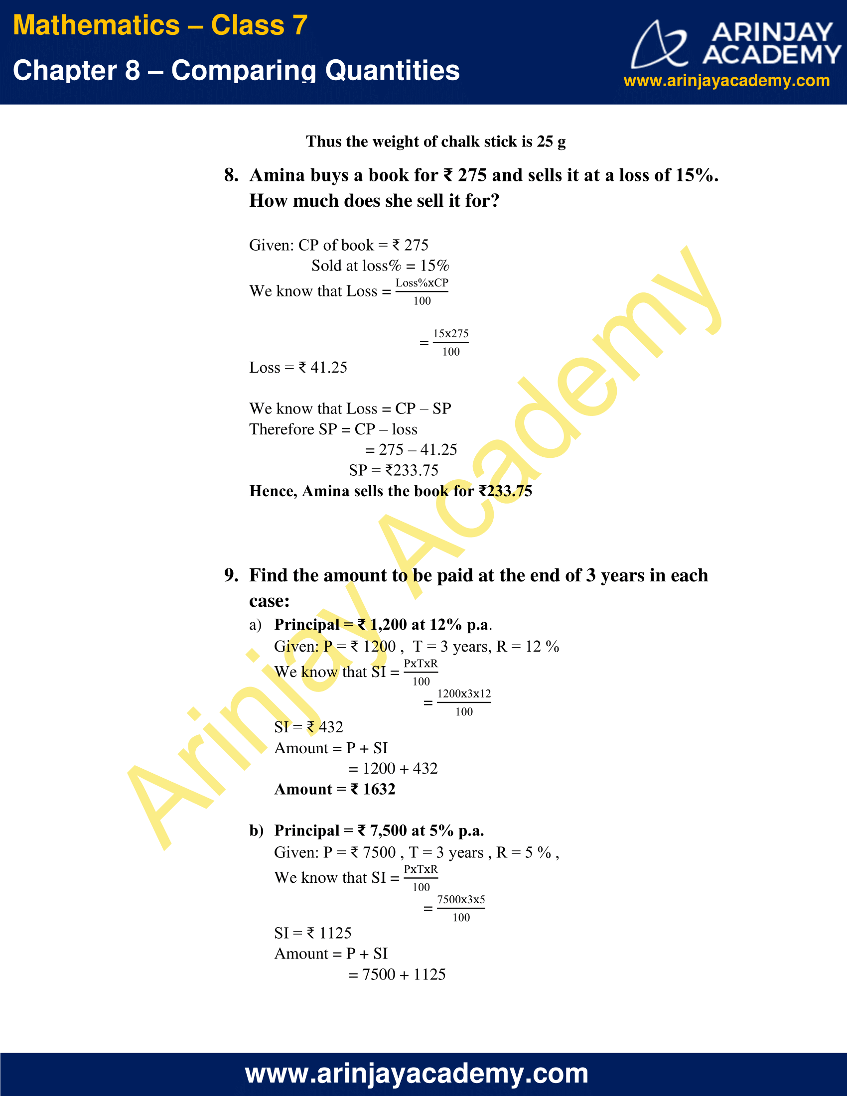 NCERT Solutions for Class 7 Maths Chapter 8 Exercise 8.3 image 6