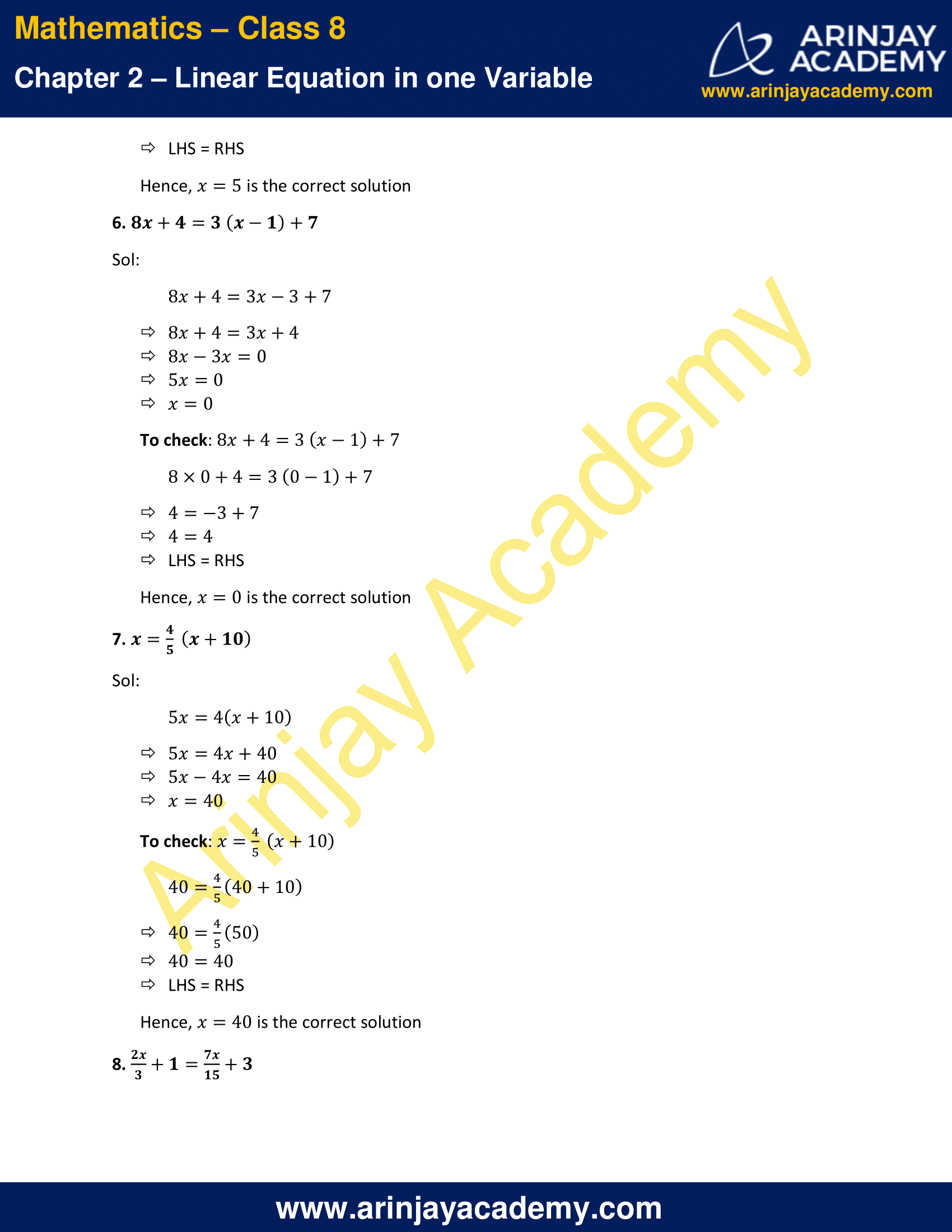 NCERT Solutions for Class 8 Maths Chapter 2 Exercise 2.3 image 3