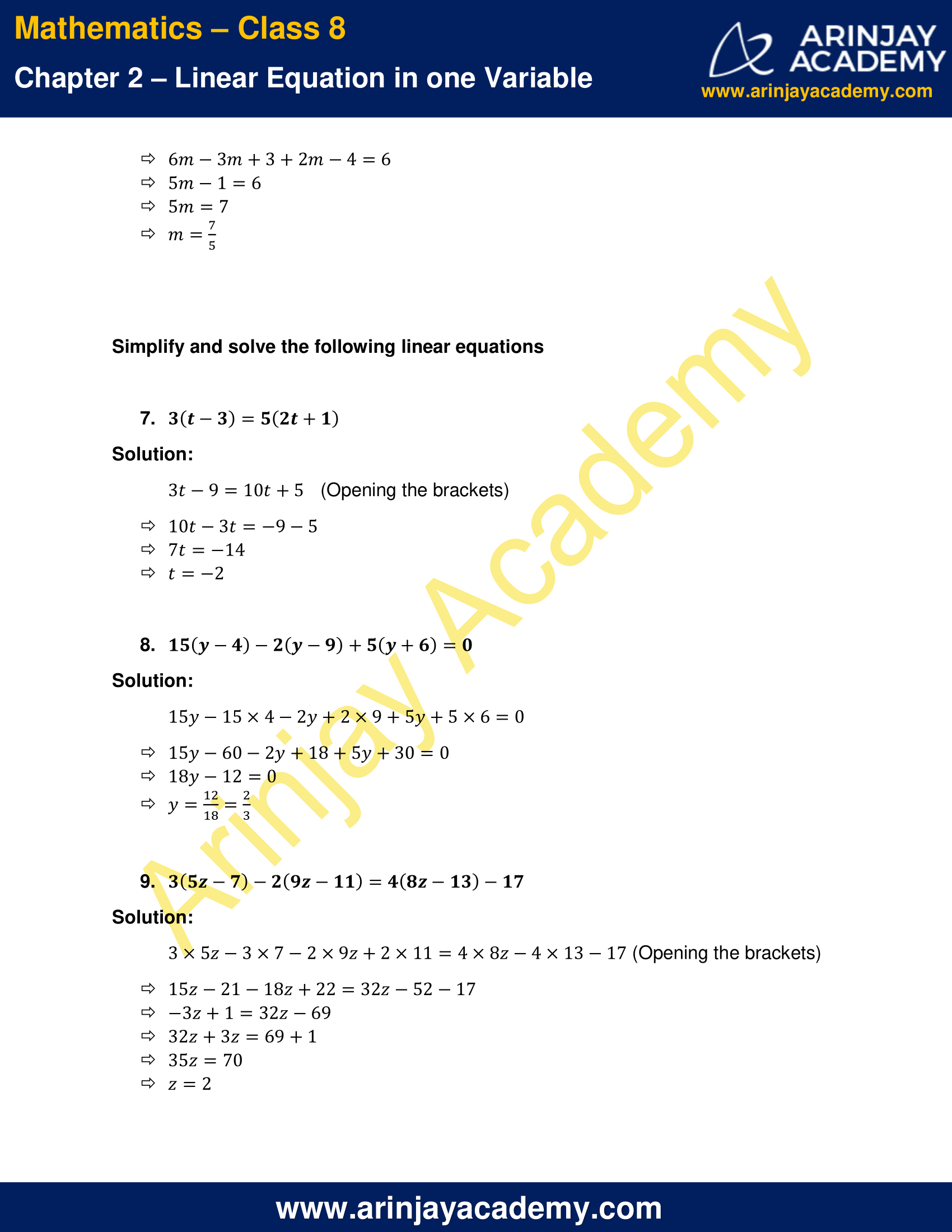 NCERT Solutions for Class 8 Maths Chapter 2 Exercise 2.5 image 3