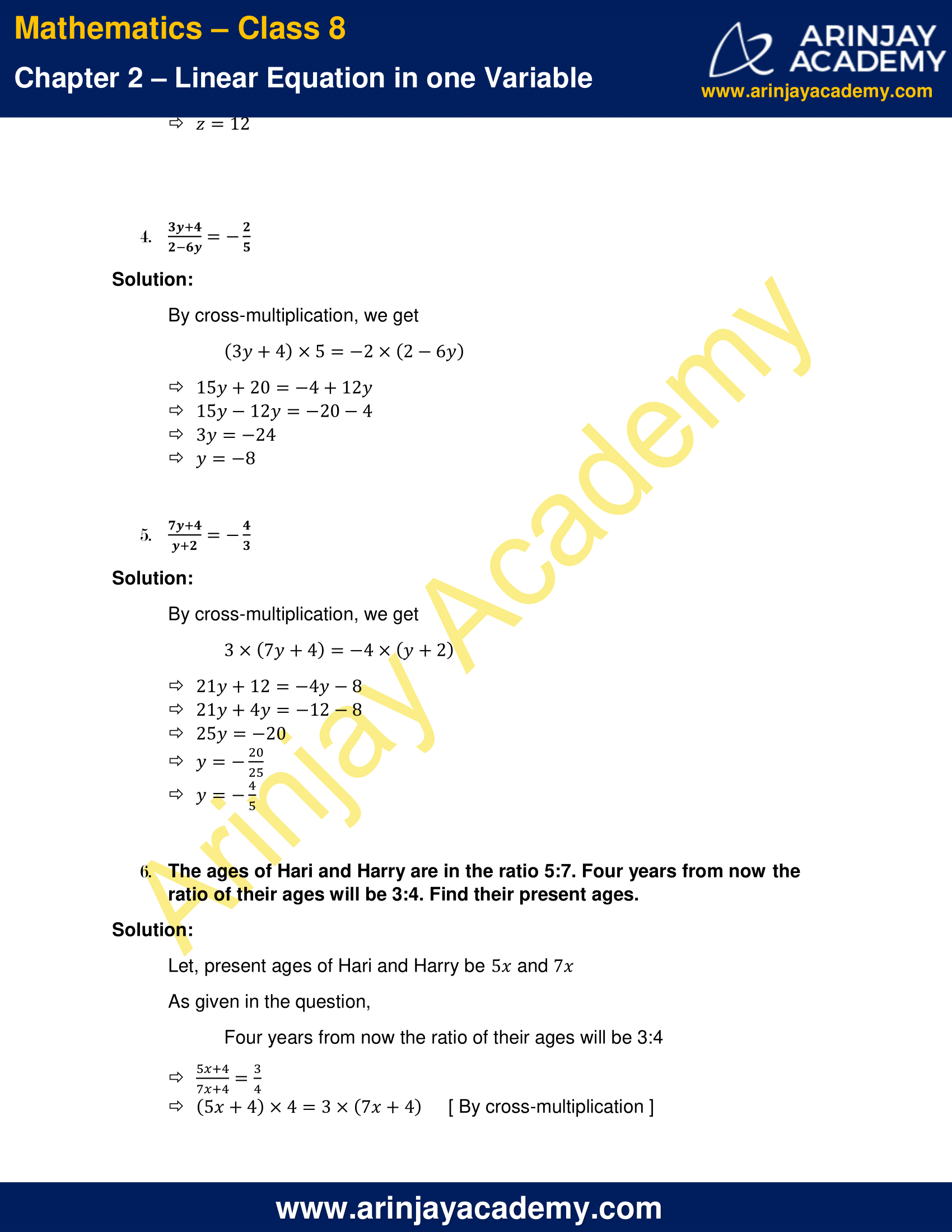 NCERT Solutions for Class 8 Maths Chapter 2 Exercise 2.6 image 2