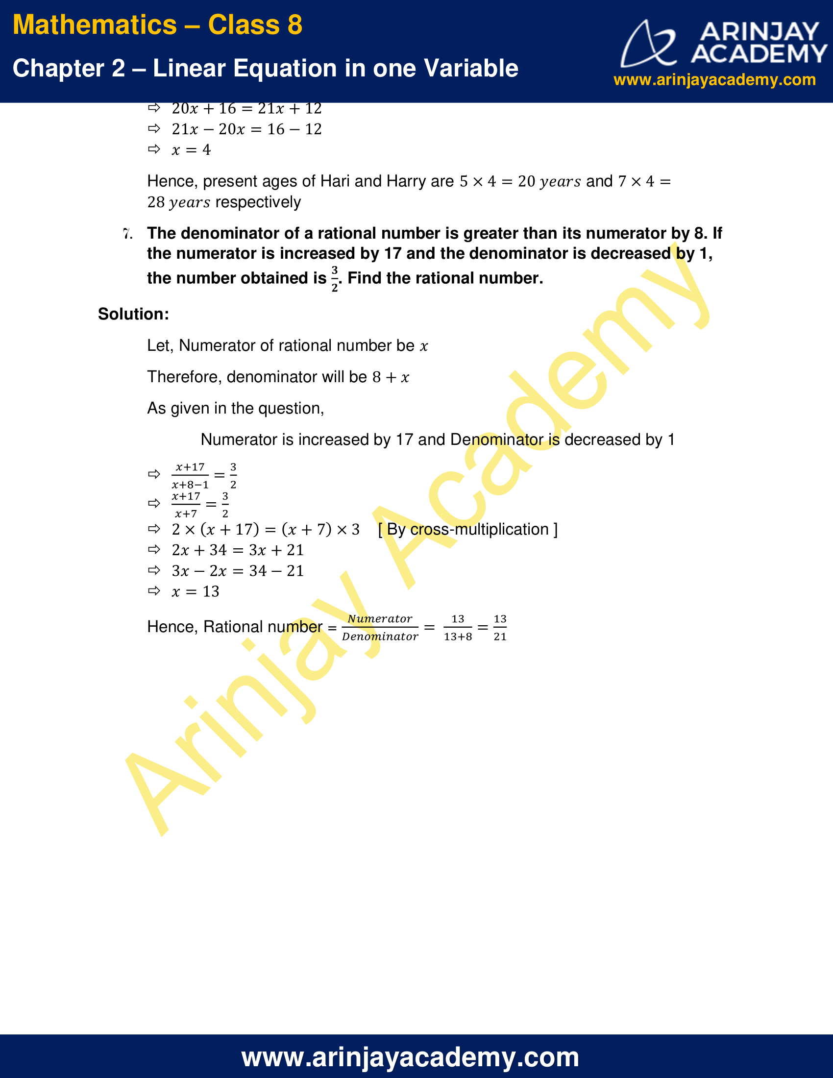 NCERT Solutions for Class 8 Maths Chapter 2 Exercise 2.6 image 3