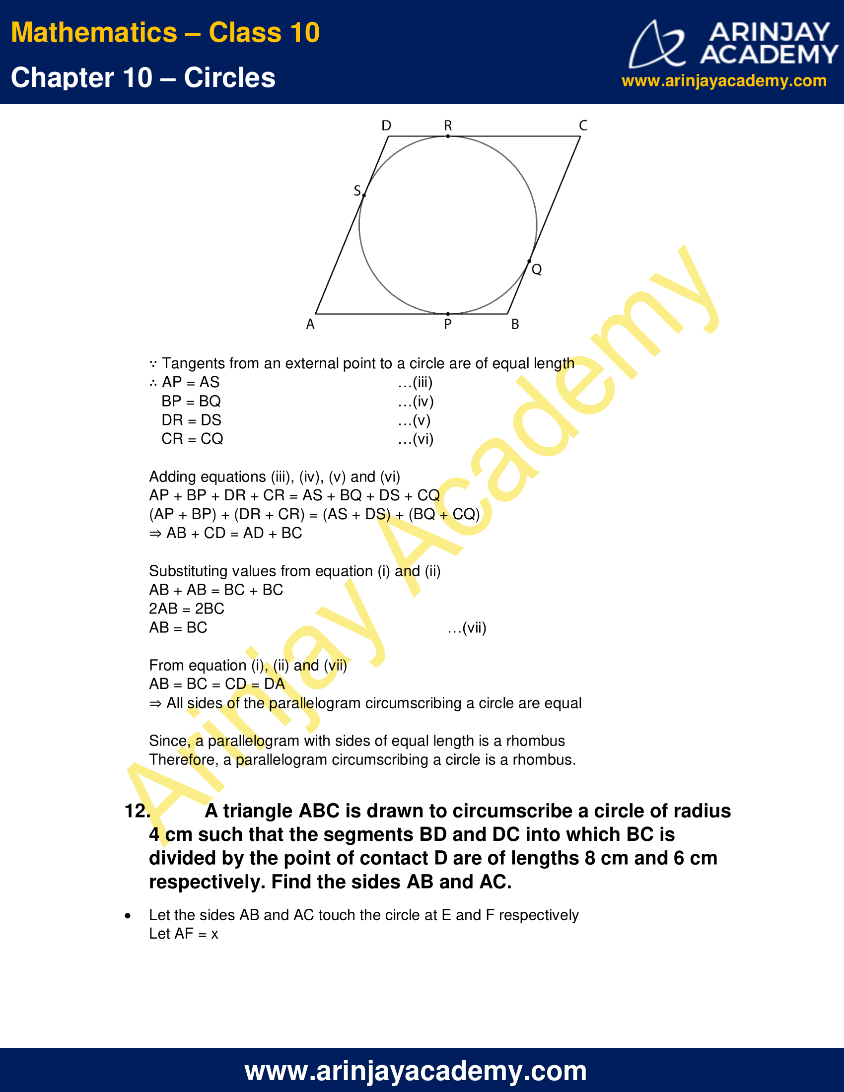 NCERT Solutions For Class 10 Maths Chapter 10 Exercise 10.2 image 10