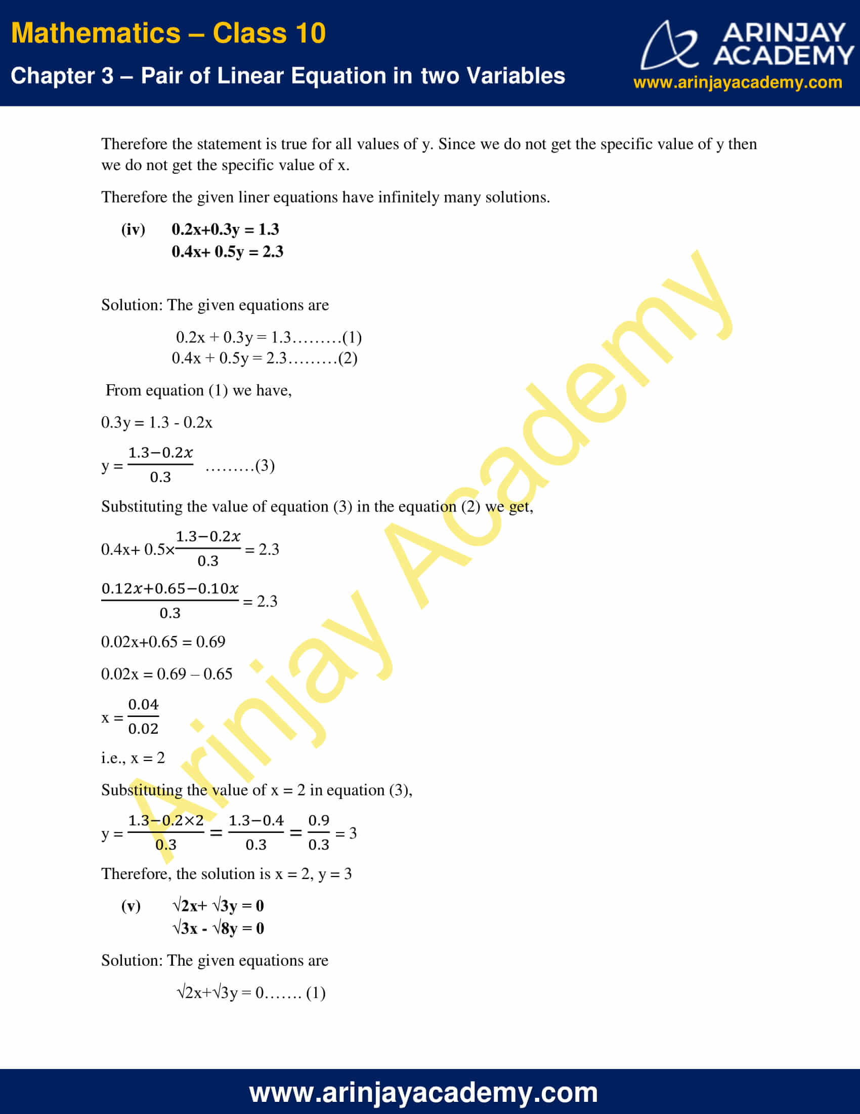 NCERT Solutions For Class 10 Maths Chapter 3 Exercise 3.3 image 3