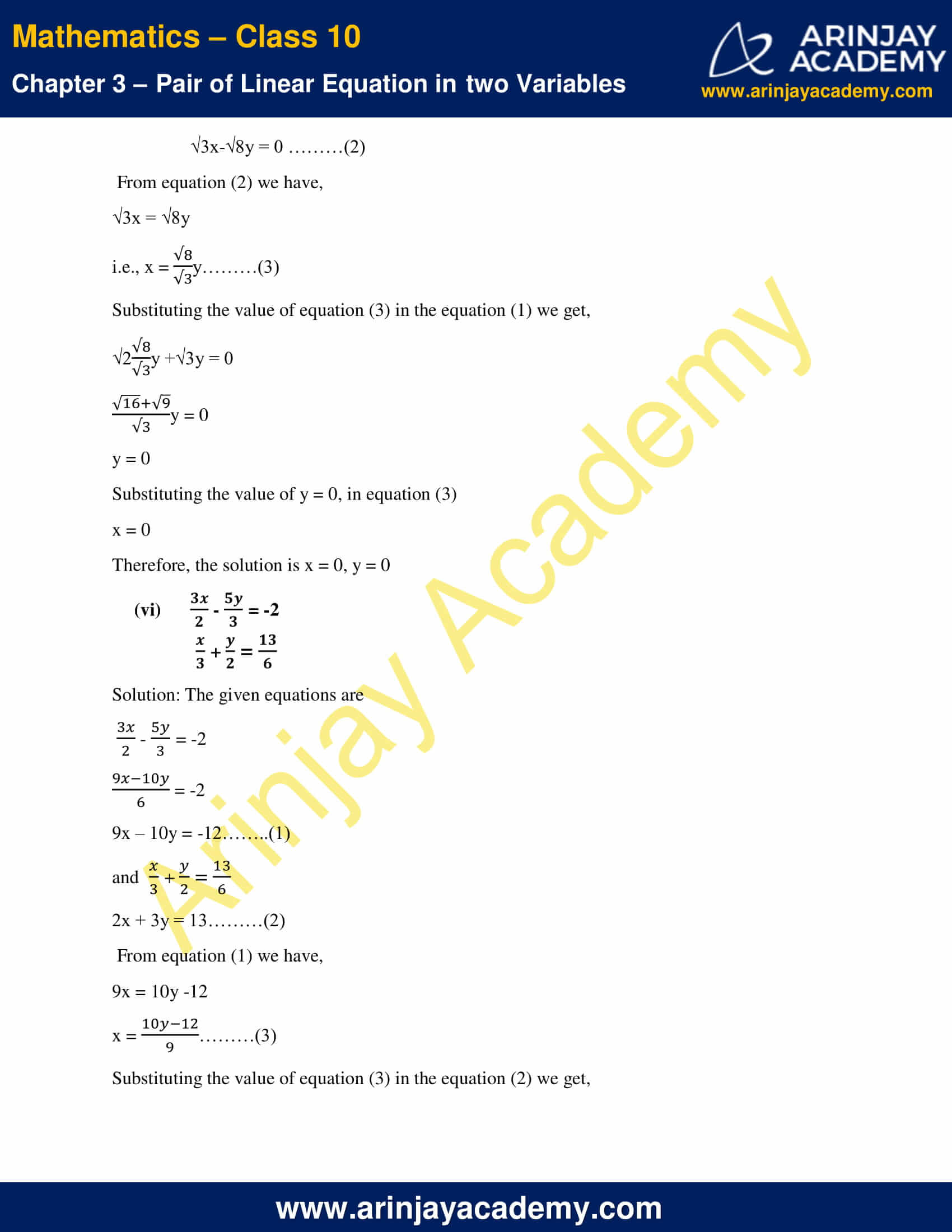 NCERT Solutions For Class 10 Maths Chapter 3 Exercise 3.3 image 4