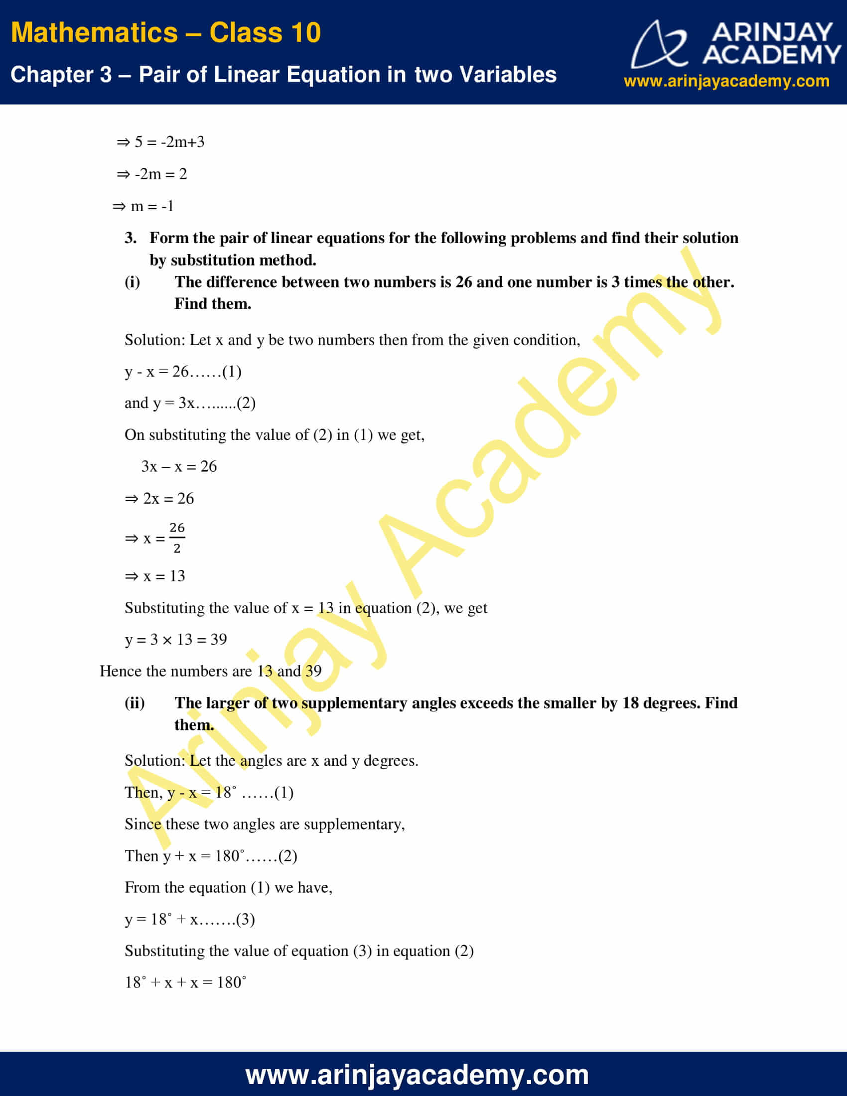 NCERT Solutions For Class 10 Maths Chapter 3 Exercise 3.3 image 6