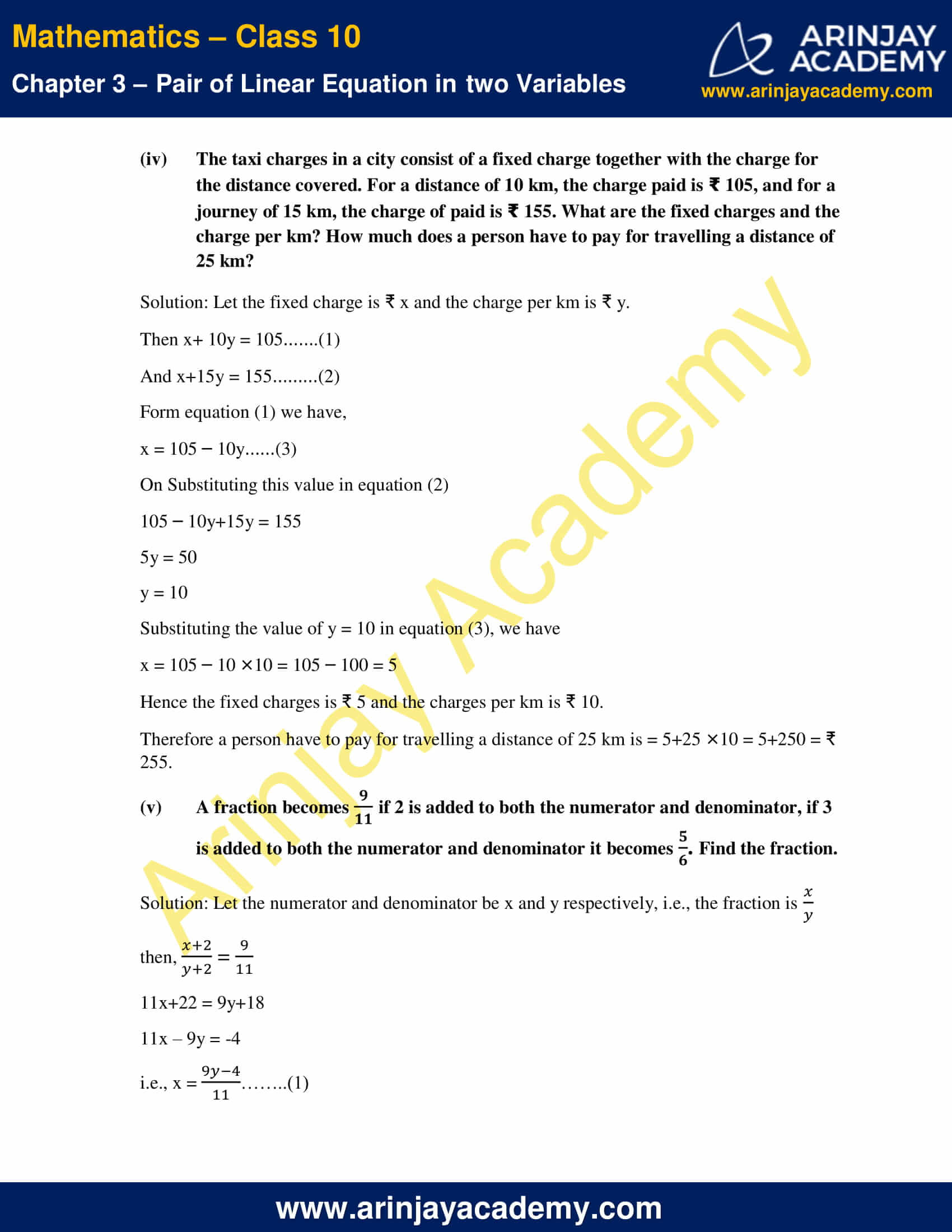 NCERT Solutions For Class 10 Maths Chapter 3 Exercise 3.3 image 8