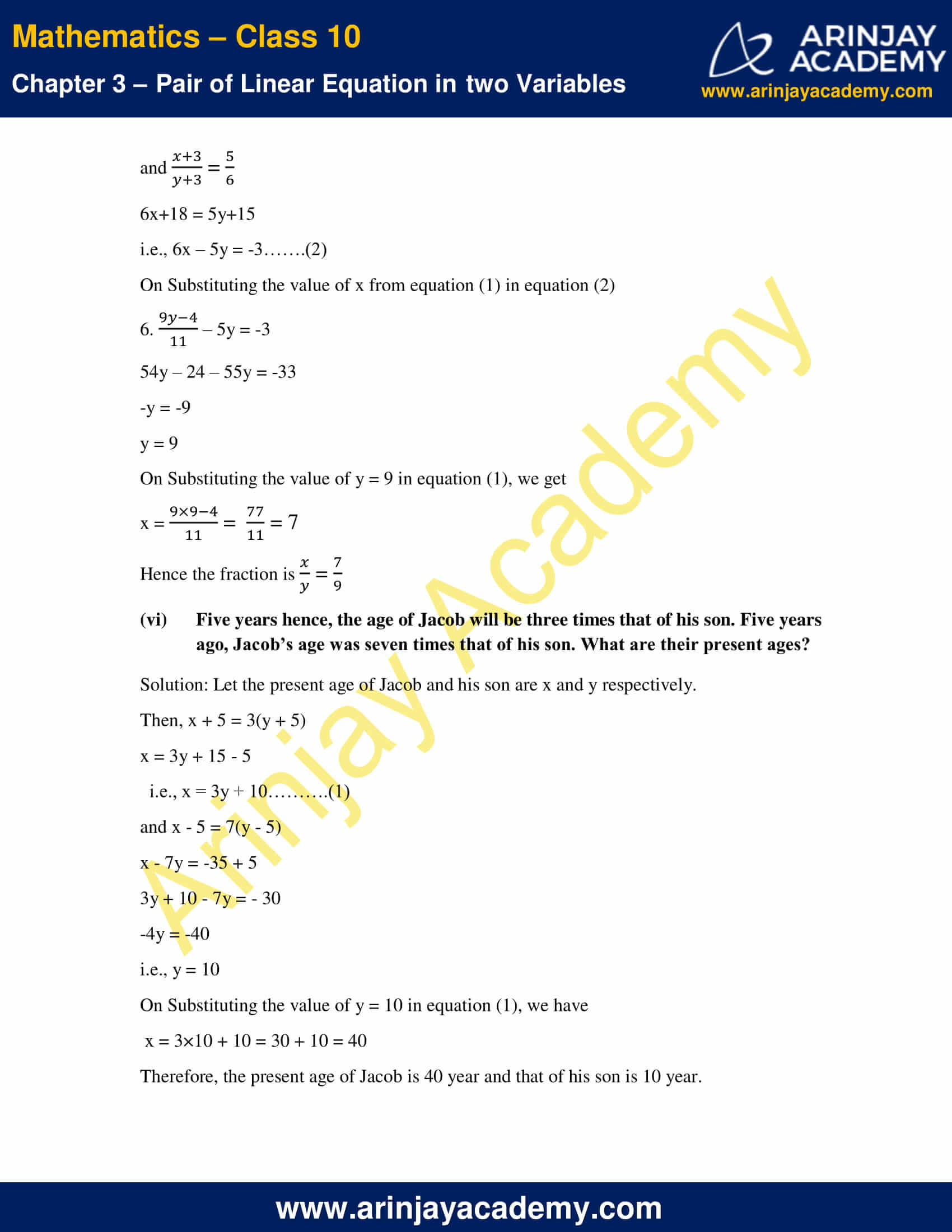 NCERT Solutions For Class 10 Maths Chapter 3 Exercise 3.3 image 9