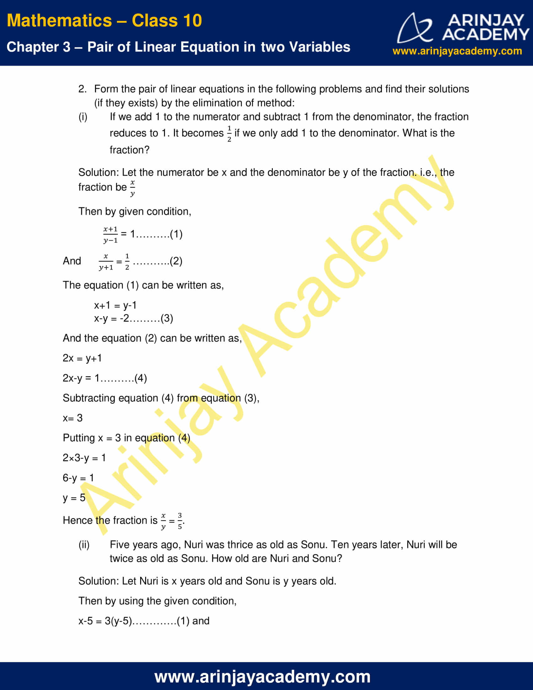 NCERT Solutions For Class 10 Maths Chapter 3 Exercise 3.4 image 6