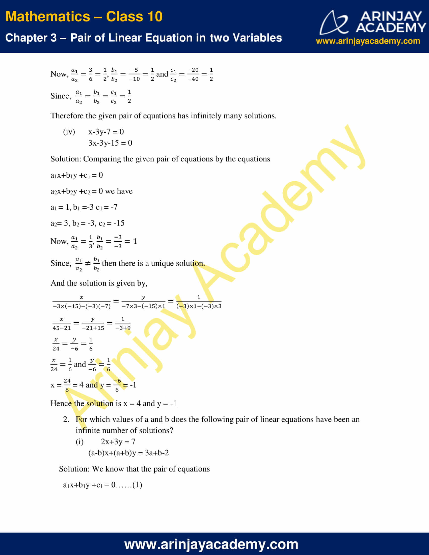 NCERT Solutions For Class 10 Maths Chapter 3 Exercise 3.5 image 3