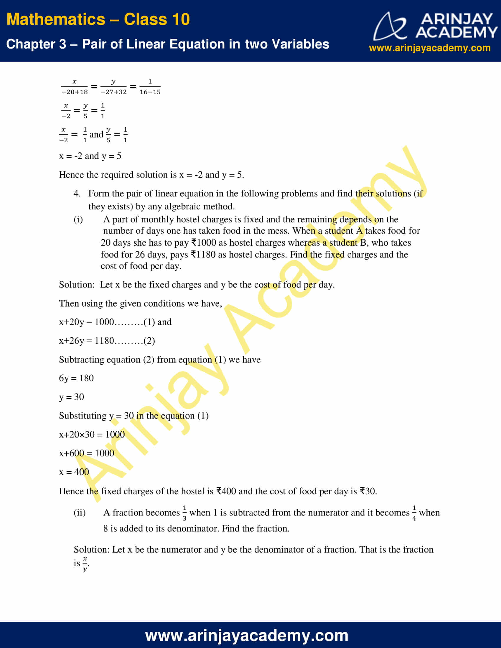 NCERT Solutions For Class 10 Maths Chapter 3 Exercise 3.5 image 7