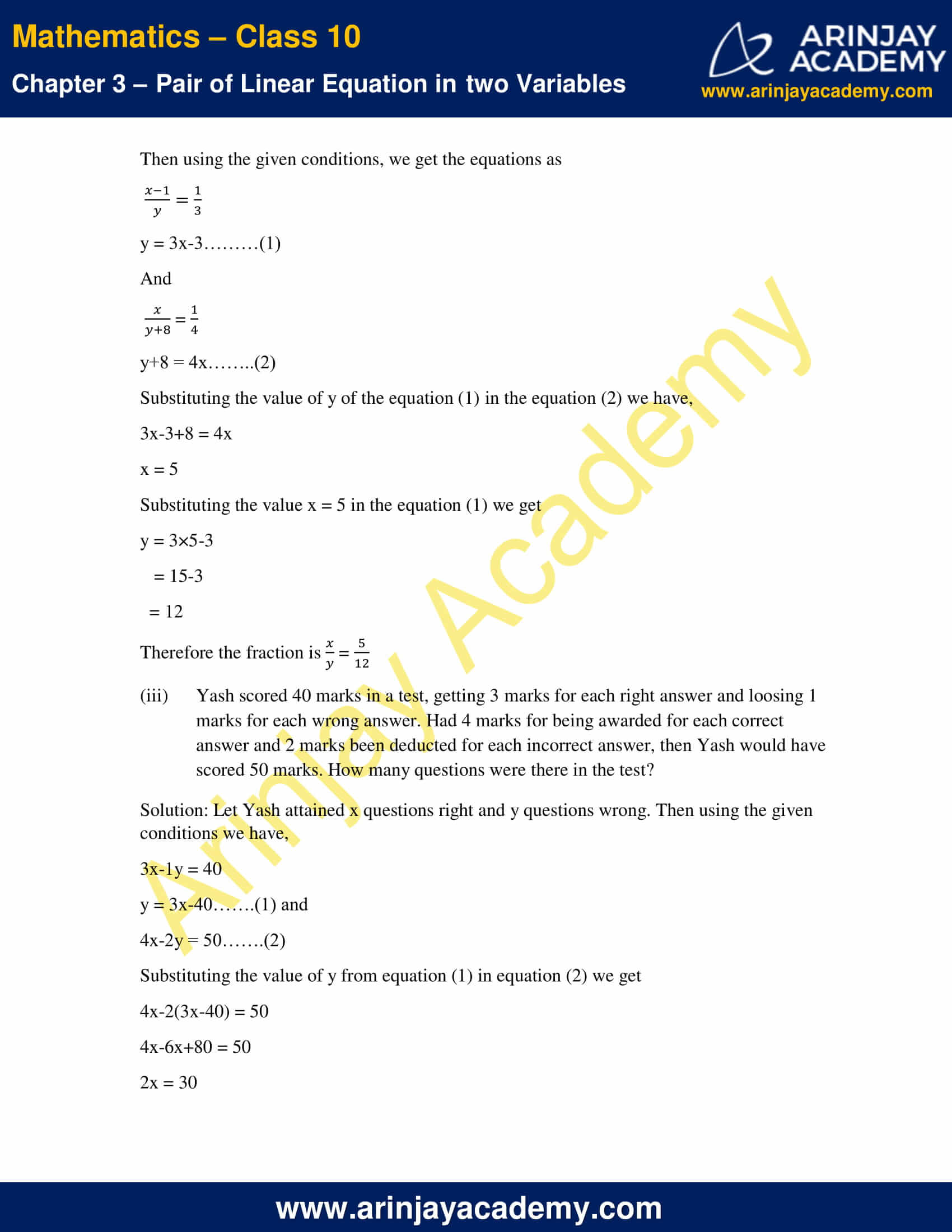 NCERT Solutions For Class 10 Maths Chapter 3 Exercise 3.5 image 8