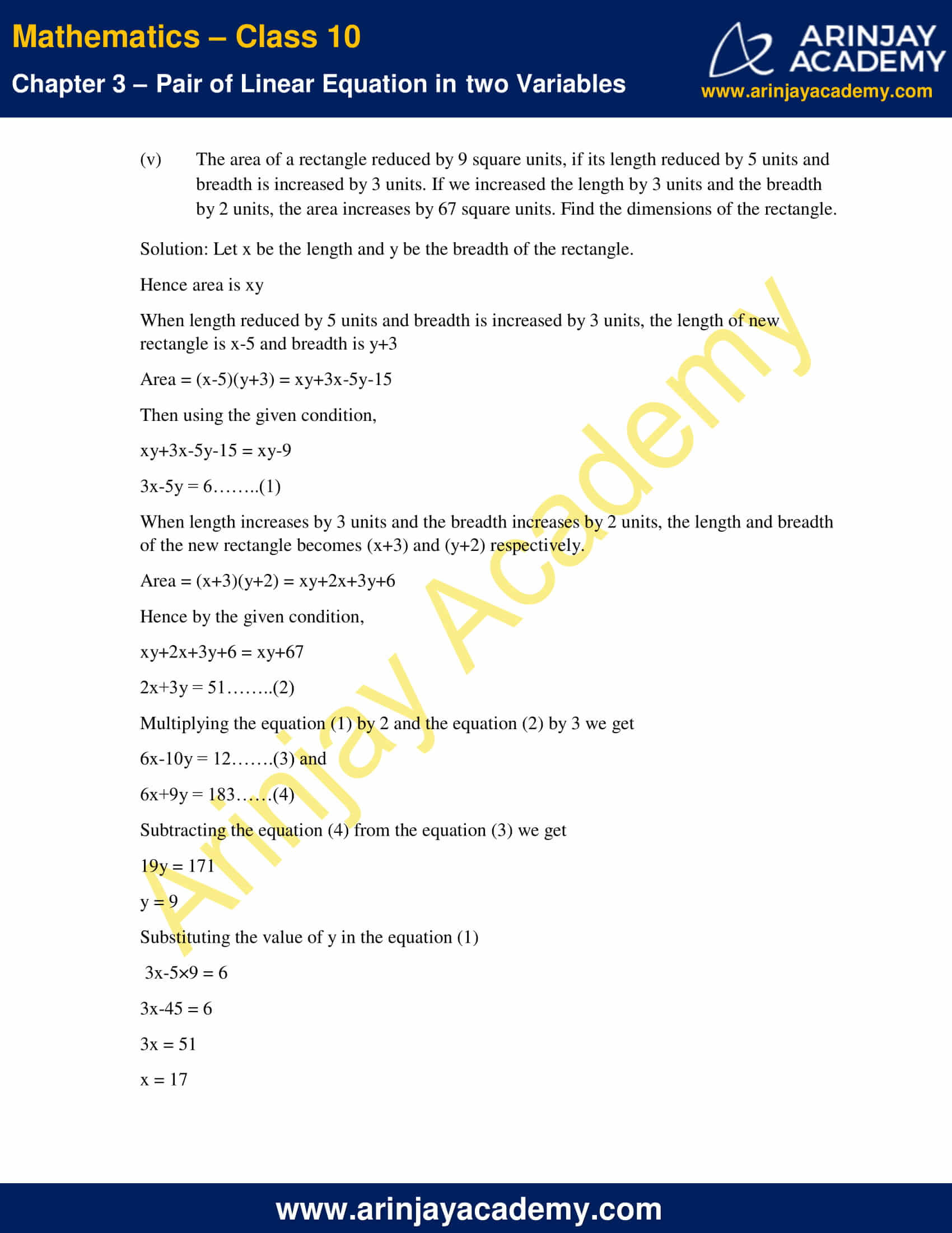 NCERT Solutions For Class 10 Maths Chapter 3 Exercise 3.5 image 10