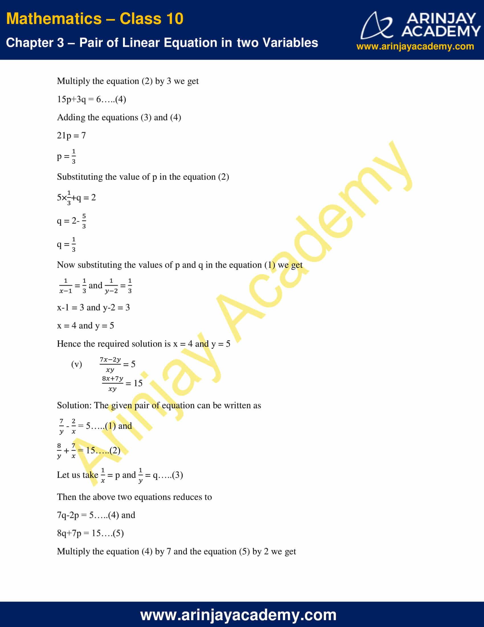 NCERT Solutions For Class 10 Maths Chapter 3 Exercise 3.6 image 4