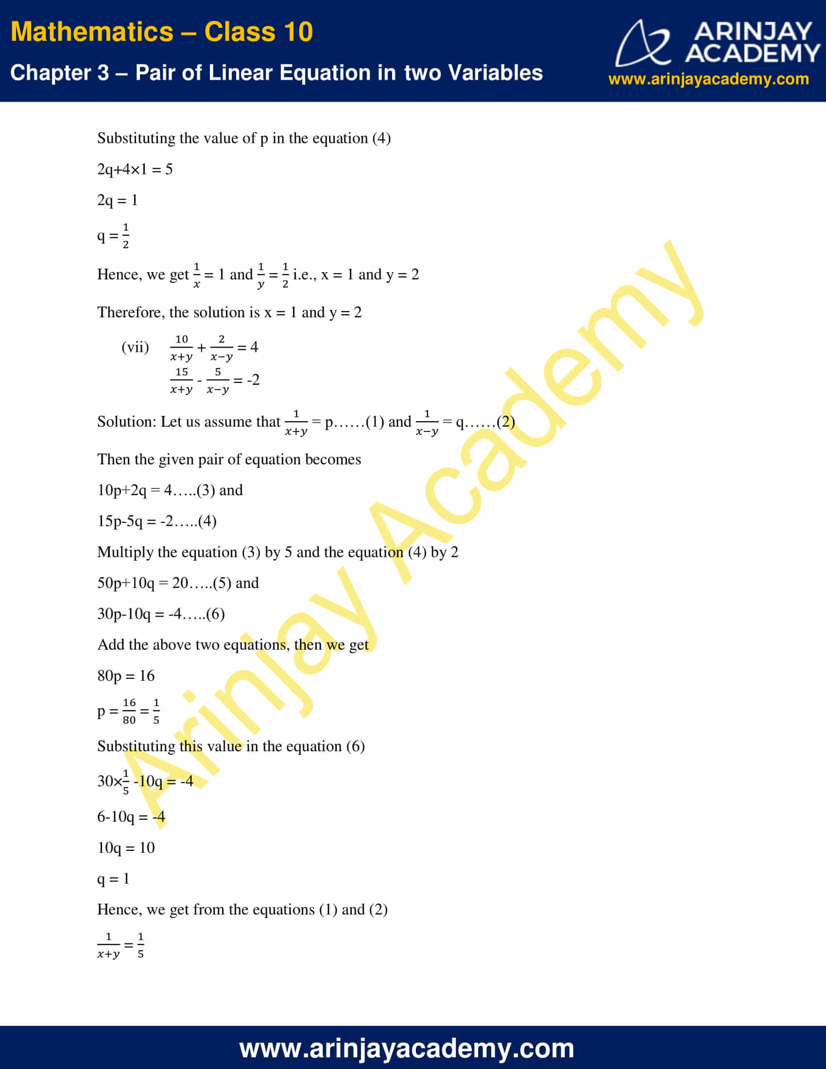NCERT Solutions For Class 10 Maths Chapter 3 Exercise 3.6 image 6