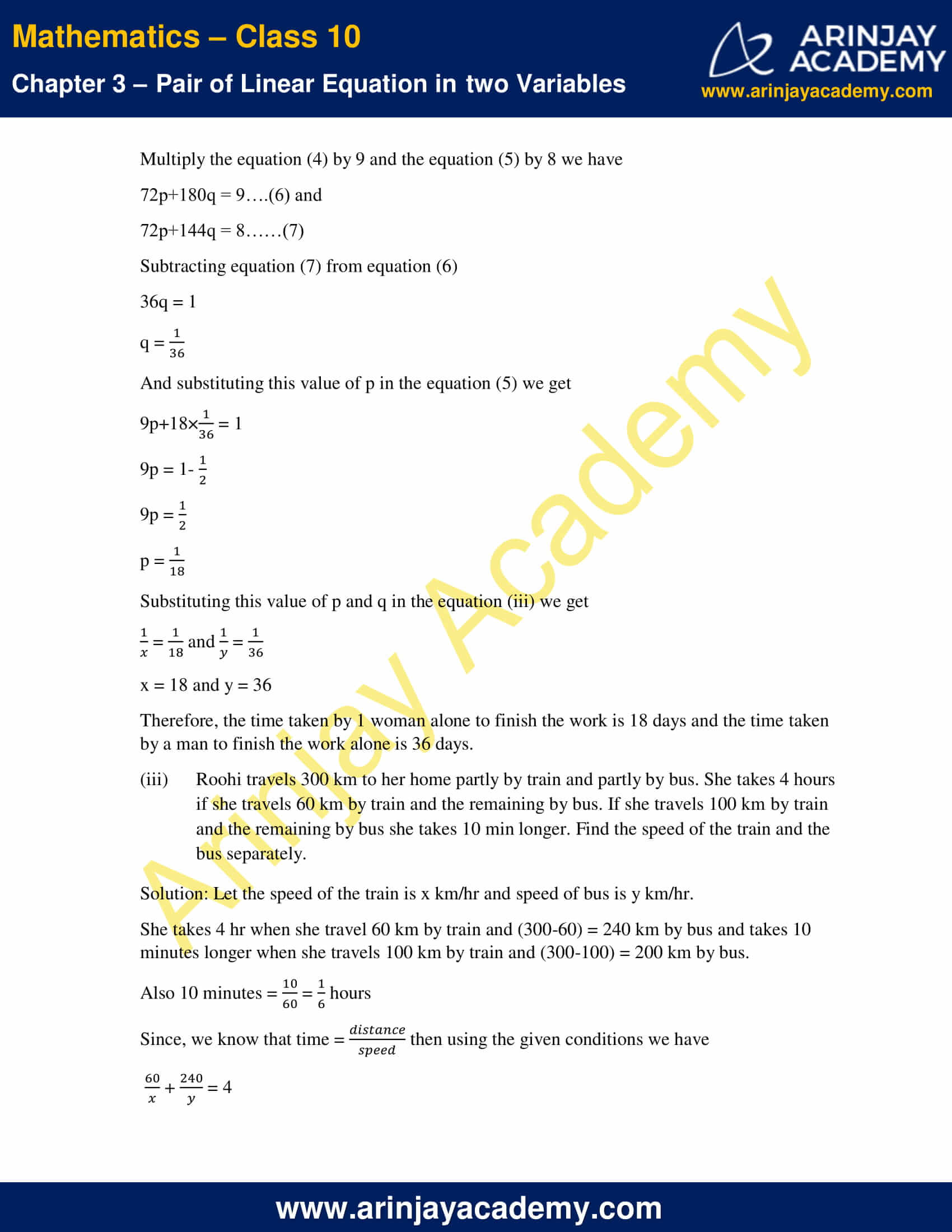 NCERT Solutions For Class 10 Maths Chapter 3 Exercise 3.6 image 10