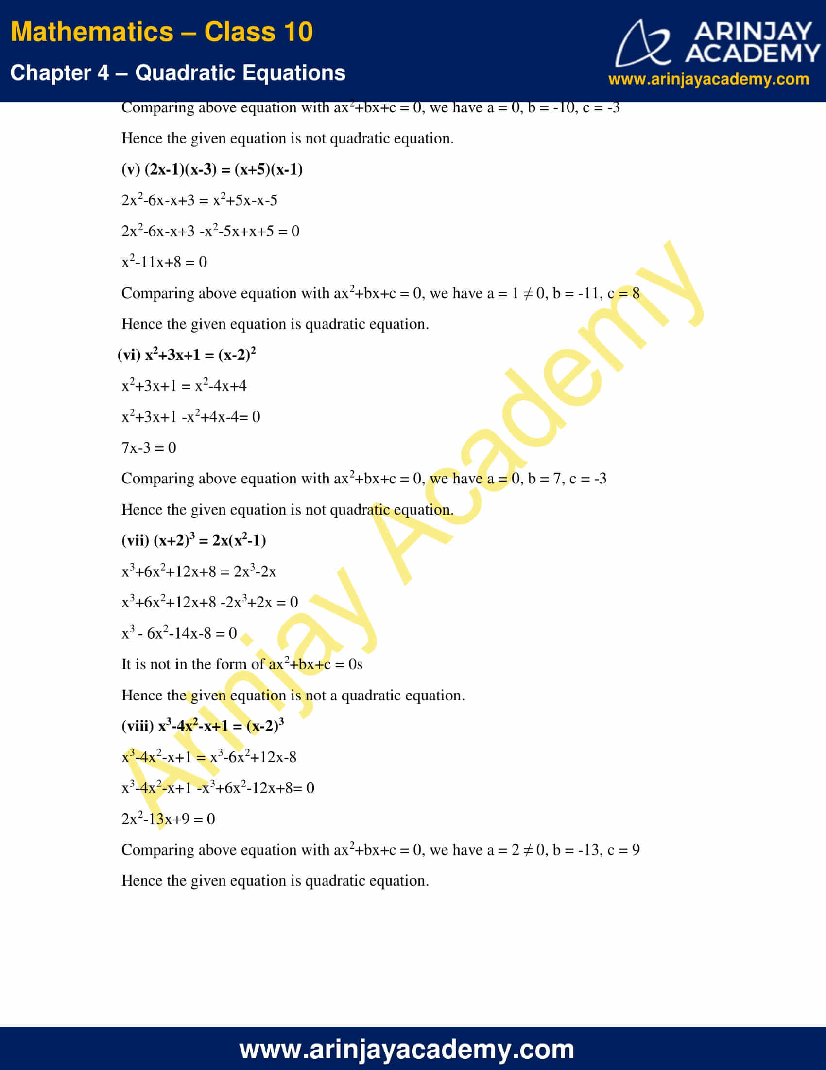 NCERT Solutions For Class 10 Maths Chapter 4 Exercise 4.1 image 2