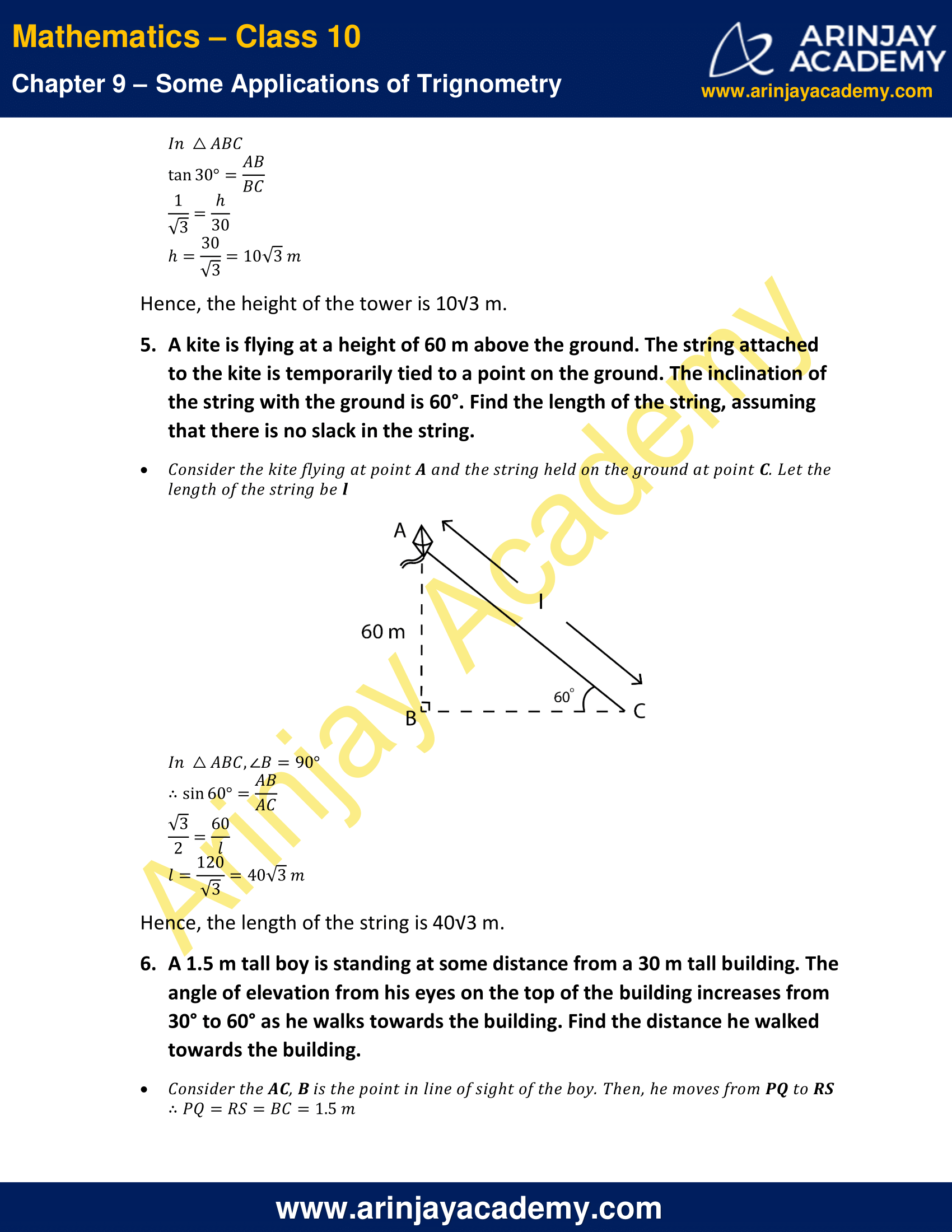 NCERT Solutions for Class 10 Maths Chapter 9 Exercise 9.1 image 4