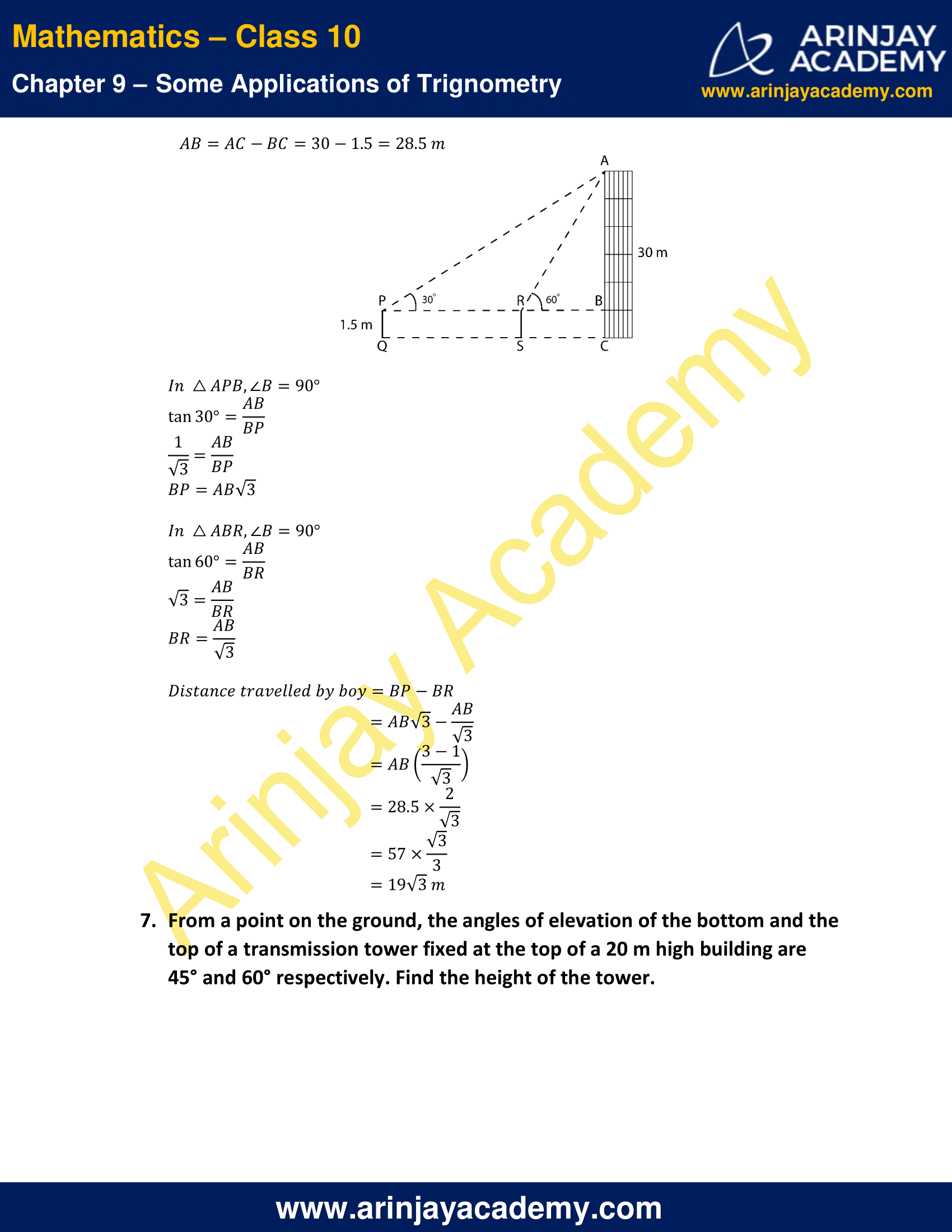 NCERT Solutions for Class 10 Maths Chapter 9 Exercise 9.1 image 5