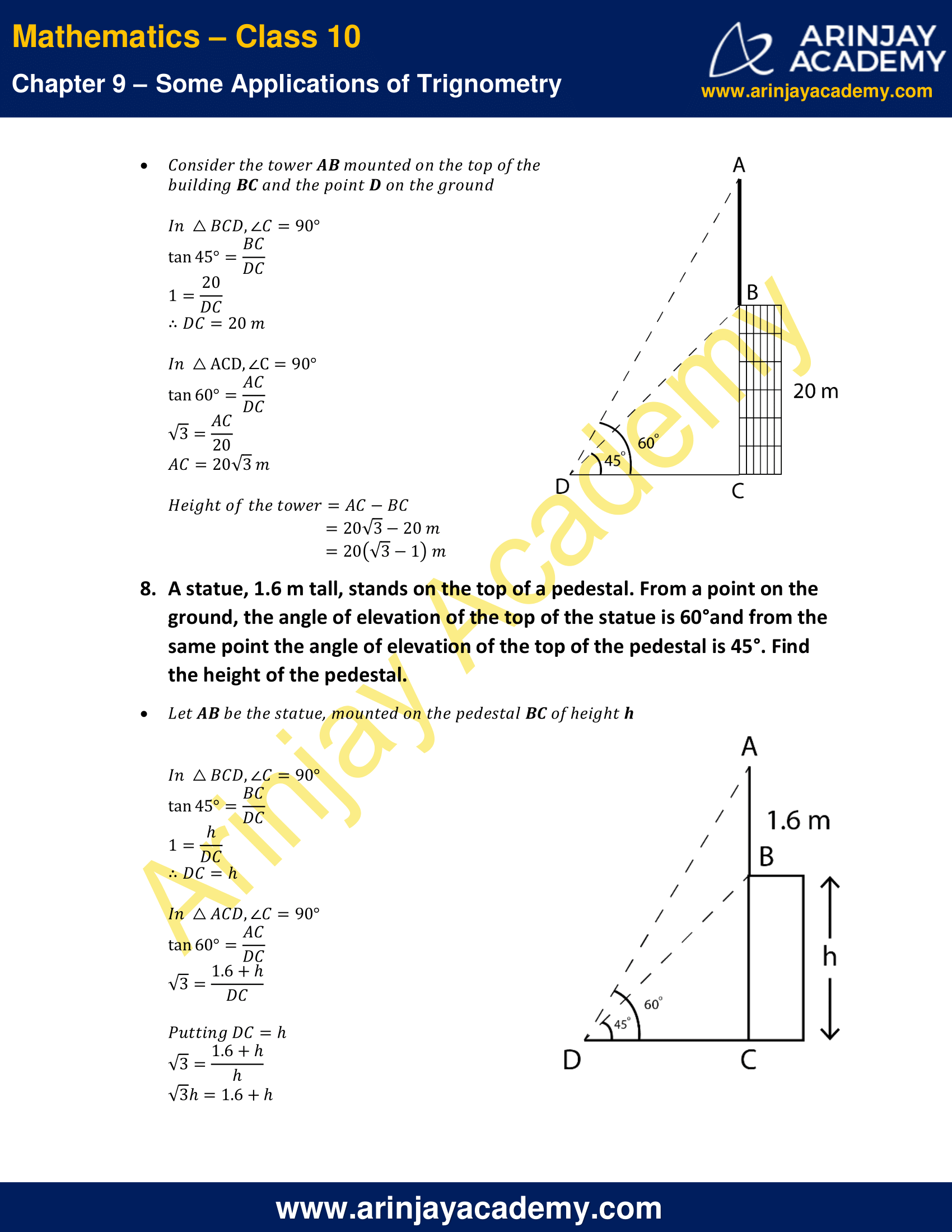 NCERT Solutions for Class 10 Maths Chapter 9 Exercise 9.1 image 6