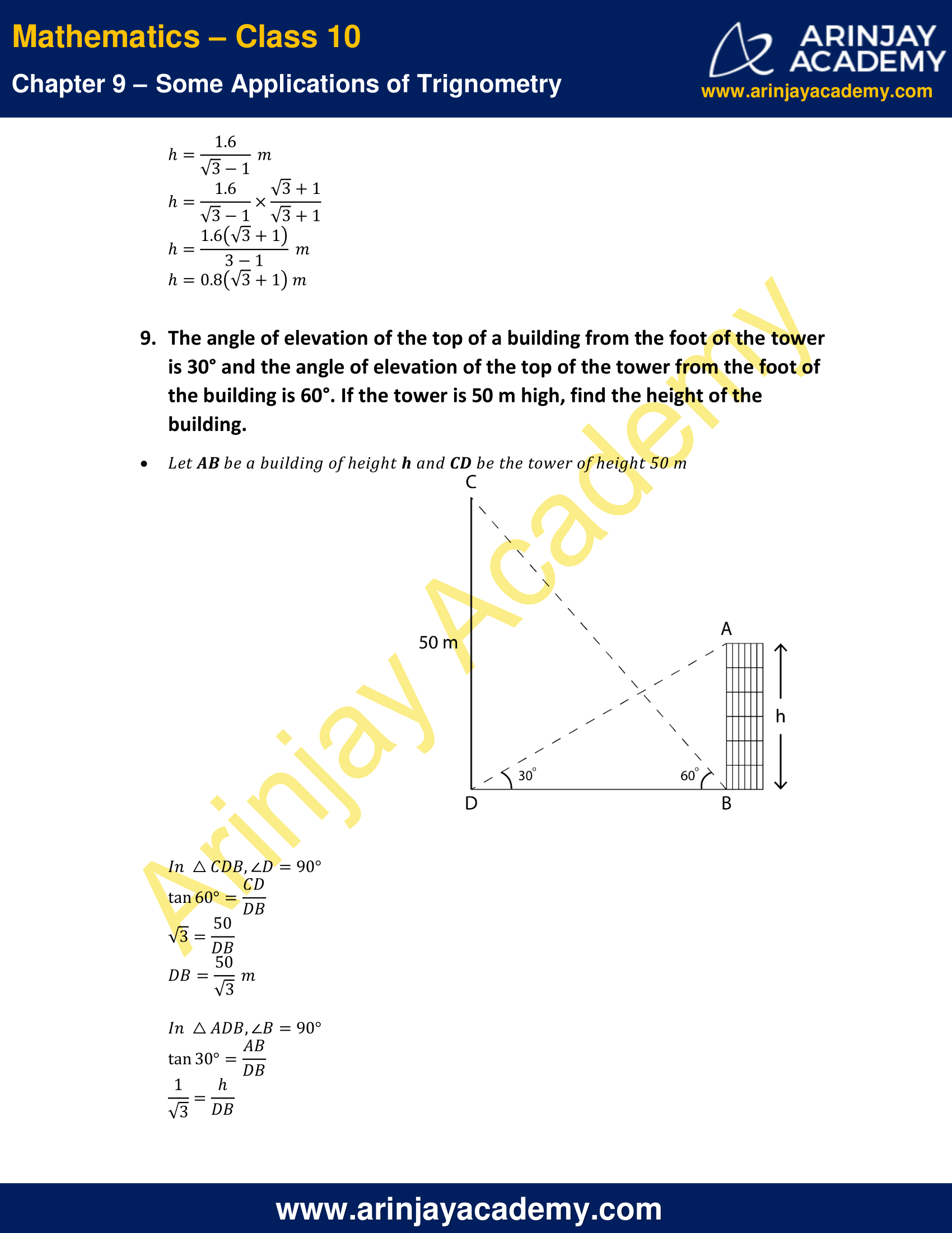 NCERT Solutions for Class 10 Maths Chapter 9 Exercise 9.1 image 7