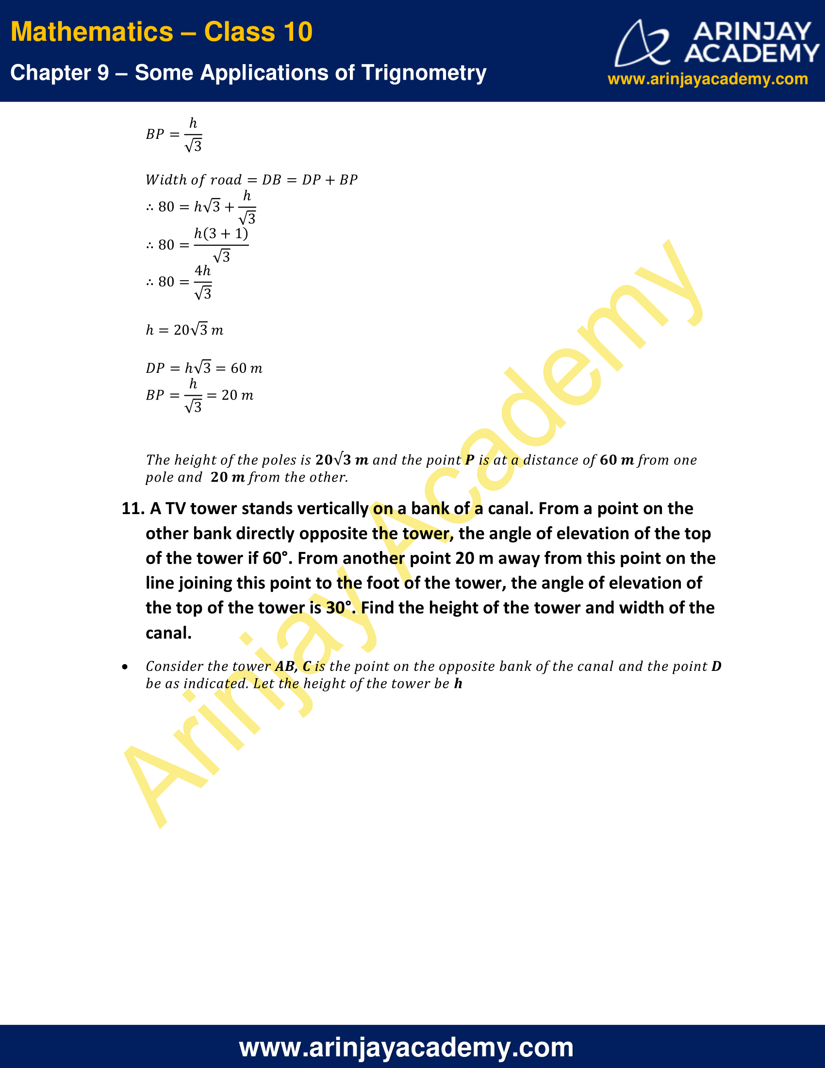 NCERT Solutions for Class 10 Maths Chapter 9 Exercise 9.1 image 9