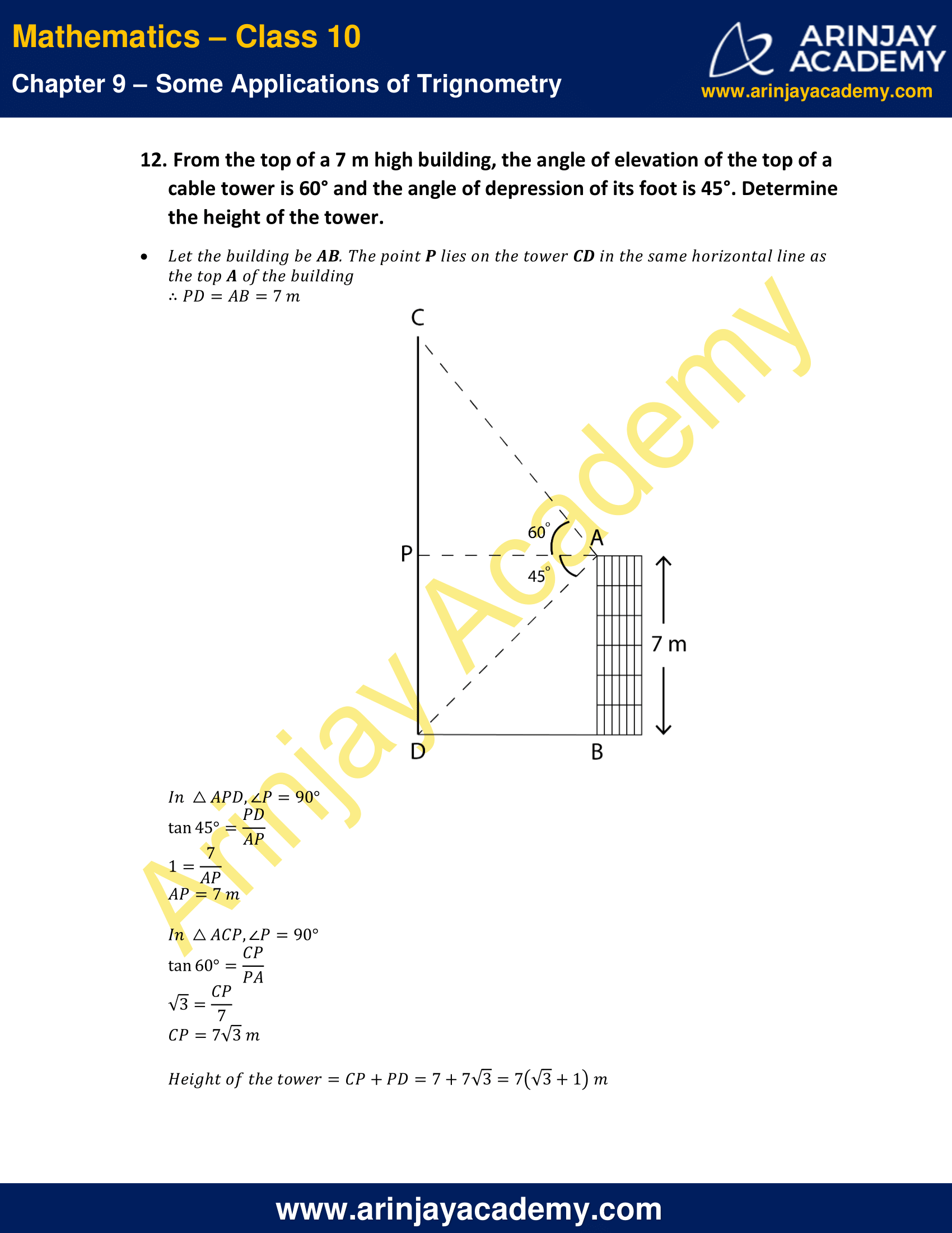 NCERT Solutions for Class 10 Maths Chapter 9 Exercise 9.1 image 11