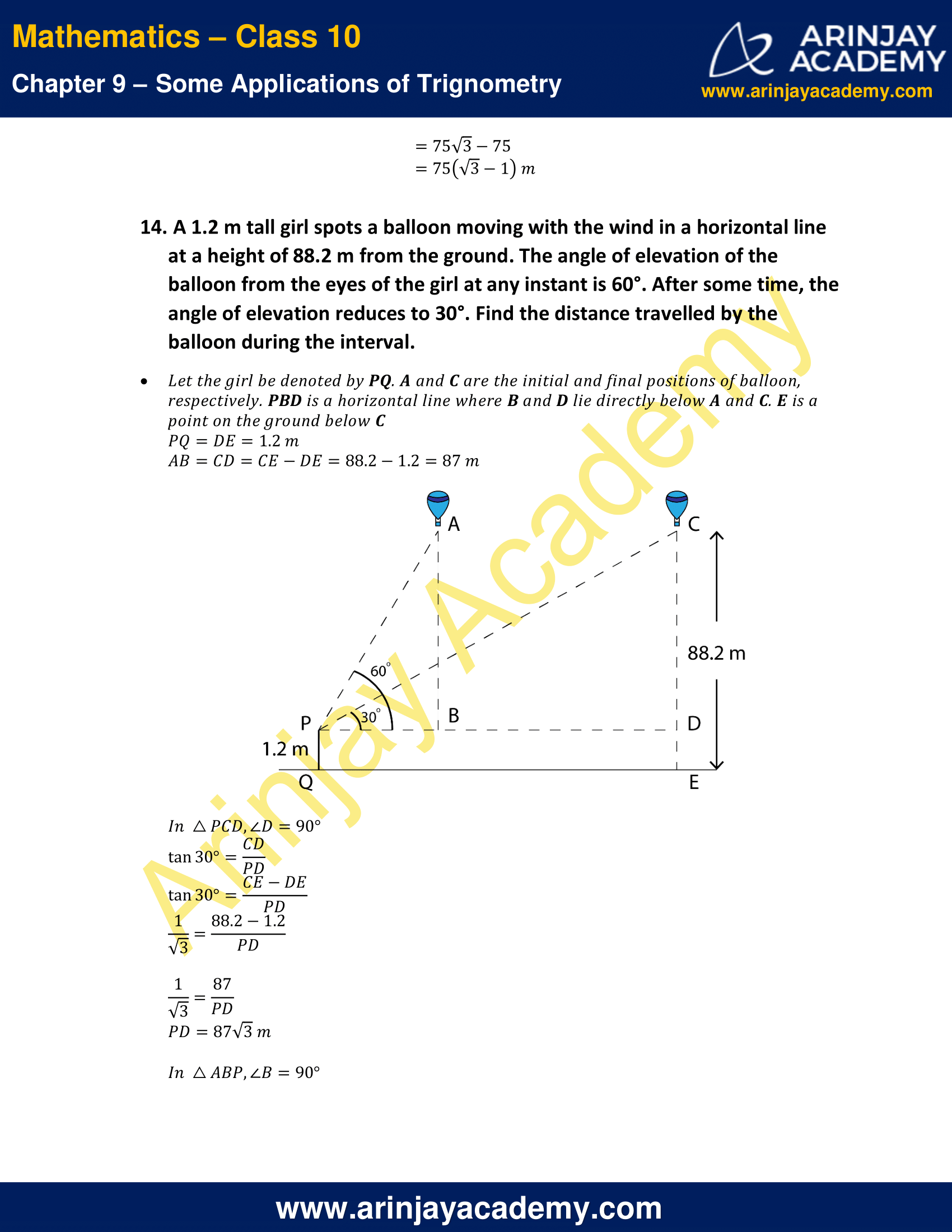 NCERT Solutions for Class 10 Maths Chapter 9 Exercise 9.1 image 13