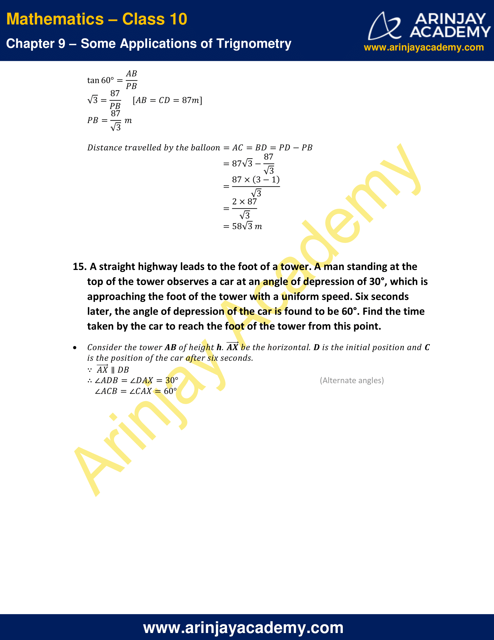 NCERT Solutions for Class 10 Maths Chapter 9 Exercise 9.1 image 14