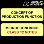 Concept of Production Function