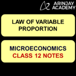 Law of Variable Proportion