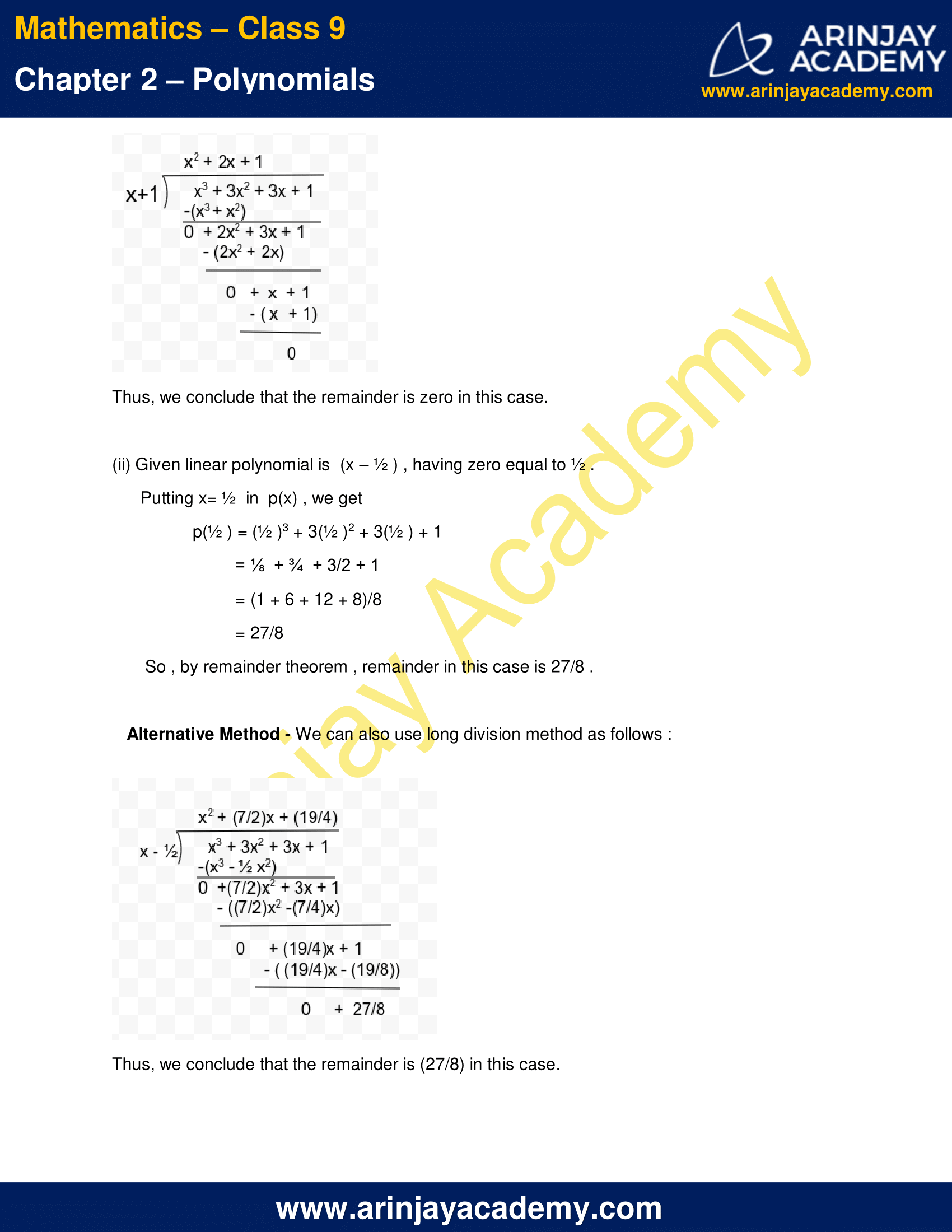 NCERT Solutions for Class 9 Maths Chapter 2 Exercise 2.3 image 2