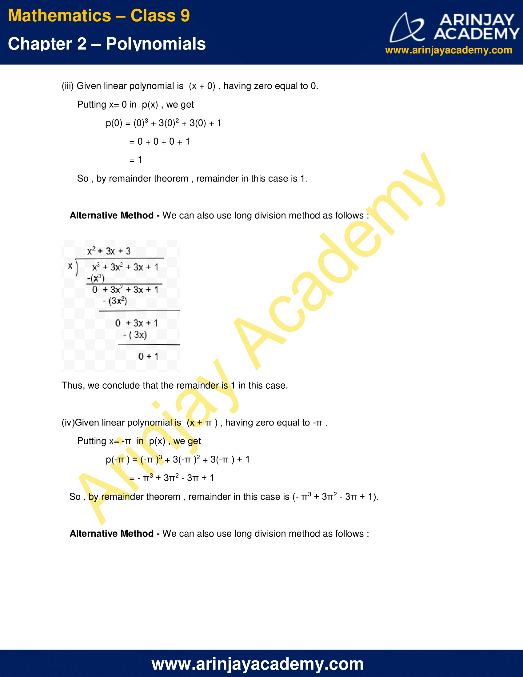 NCERT Solutions for Class 9 Maths Chapter 2 Exercise 2.3 image 3