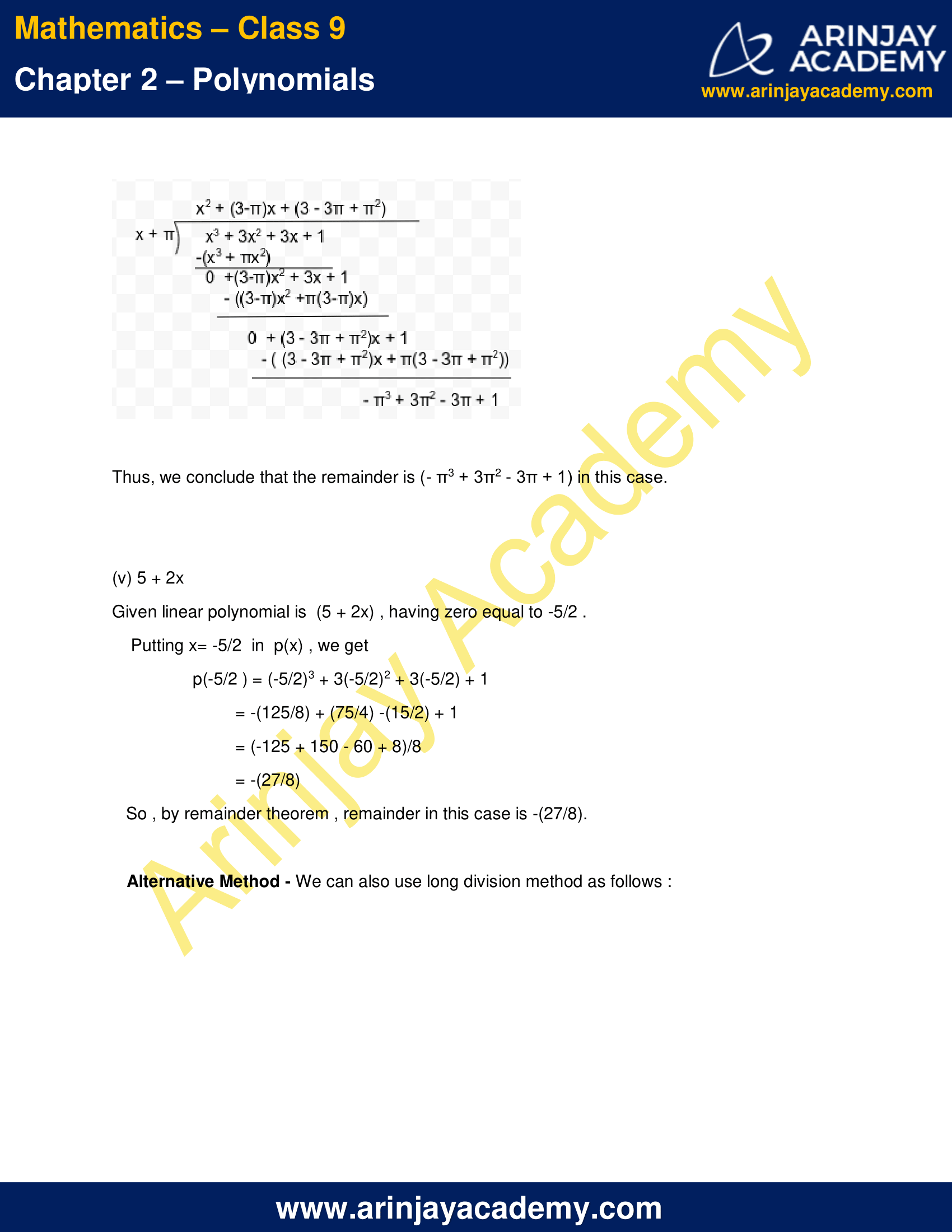 NCERT Solutions for Class 9 Maths Chapter 2 Exercise 2.3 image 4