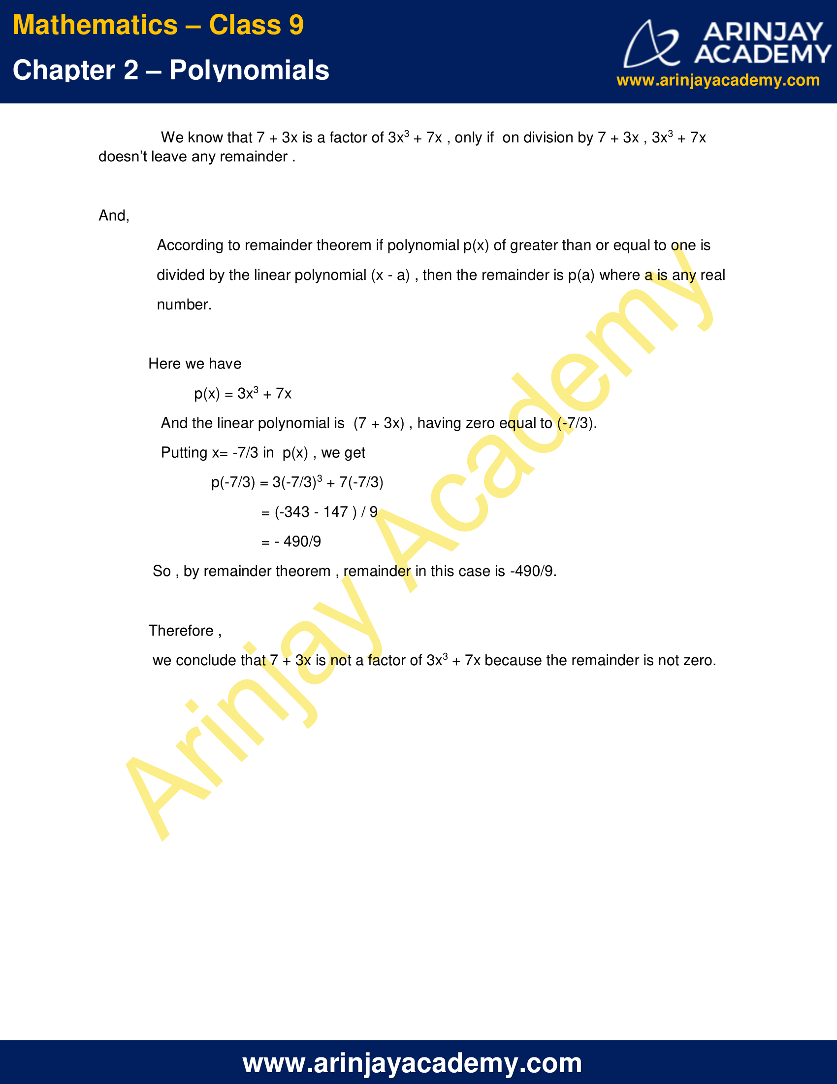 NCERT Solutions for Class 9 Maths Chapter 2 Exercise 2.3 image 6
