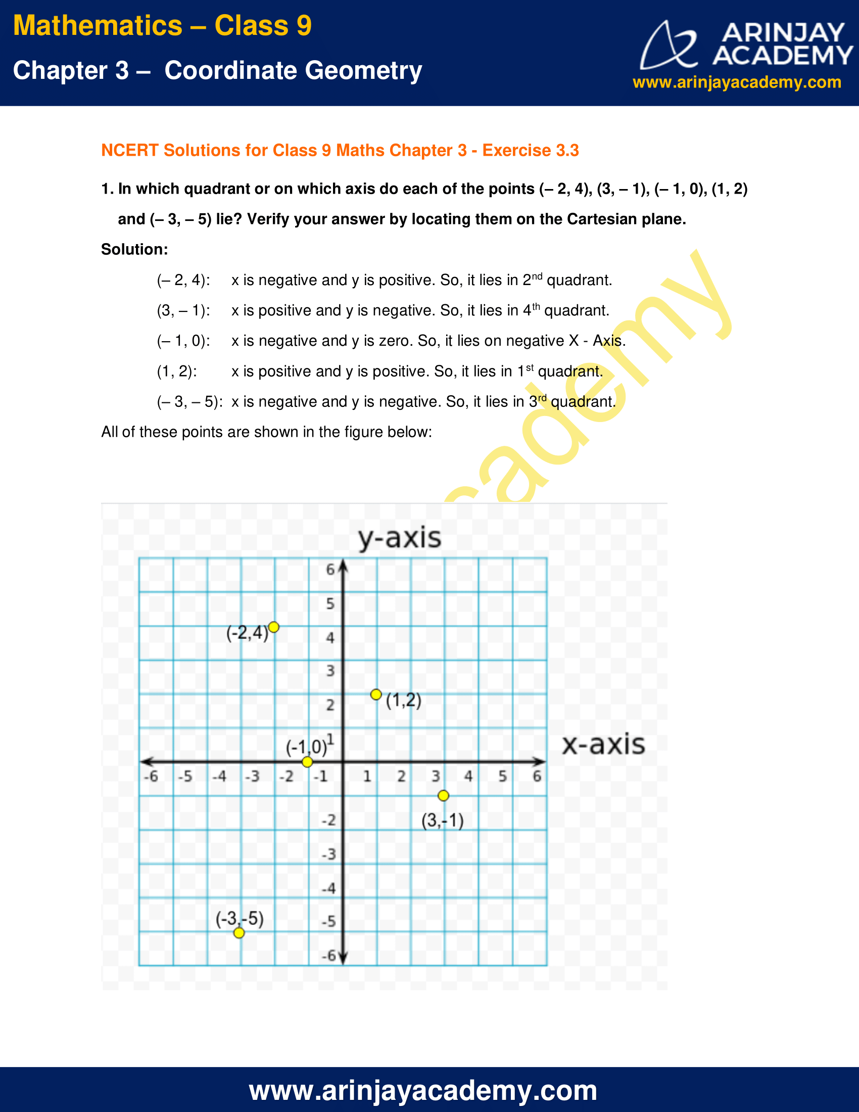 NCERT Solutions for Class 9 Maths Chapter 3 Exercise 3.3 image 1