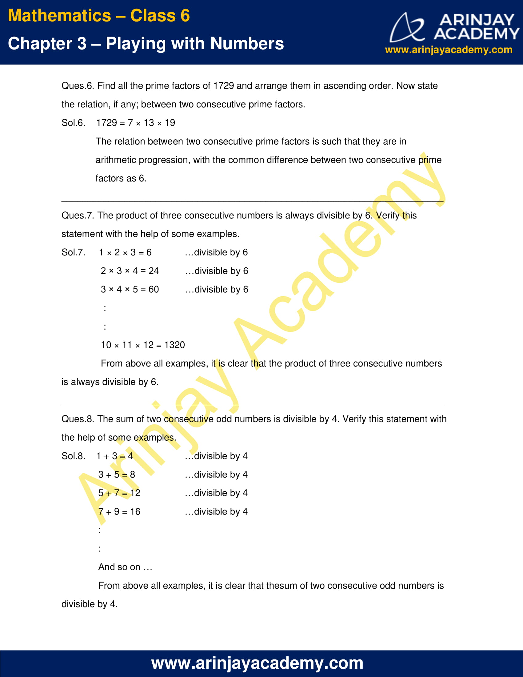 NCERT Solutions for Class 6 Maths Chapter 3 Exercise 3.5 image 3