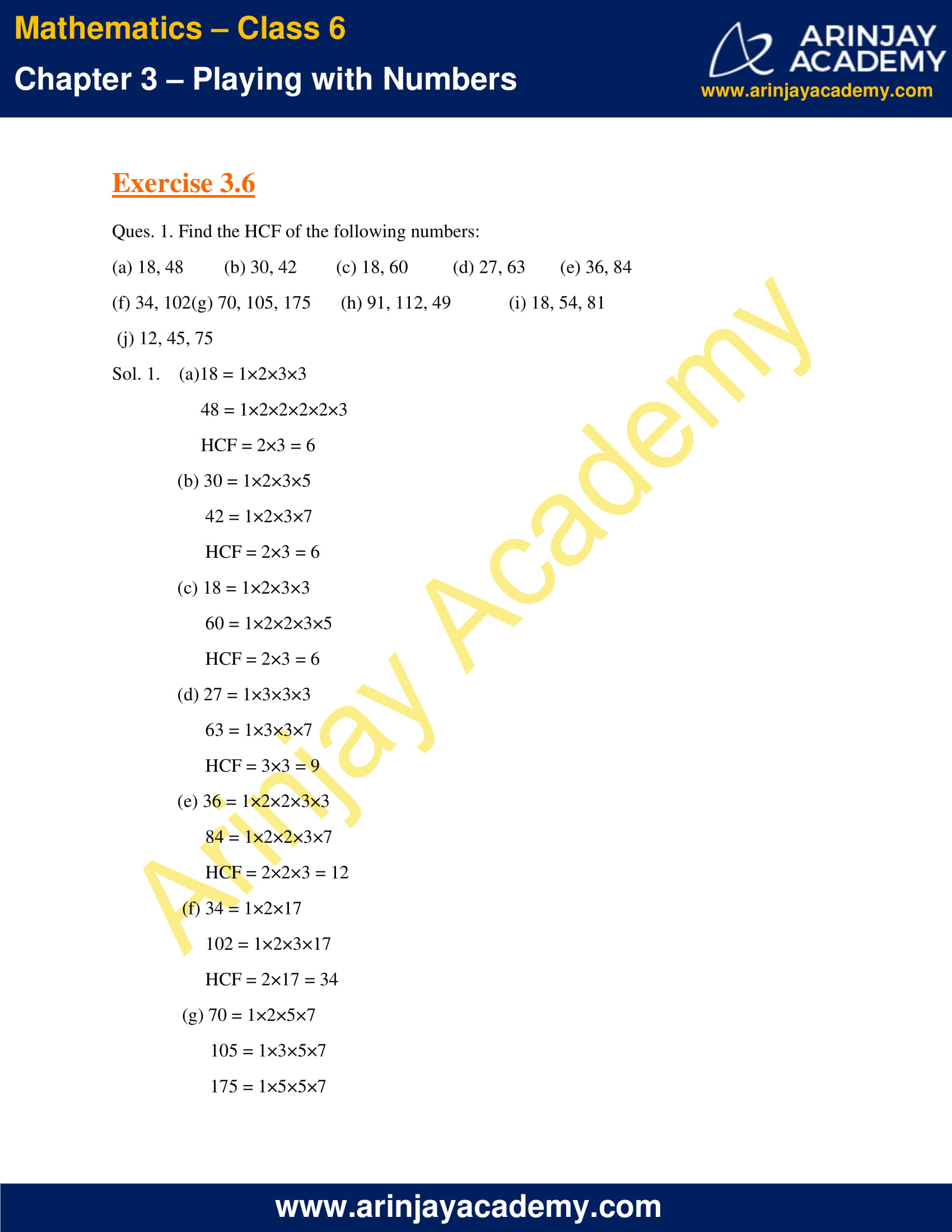 NCERT Solutions for Class 6 Maths Chapter 3 Exercise 3.6 image 1