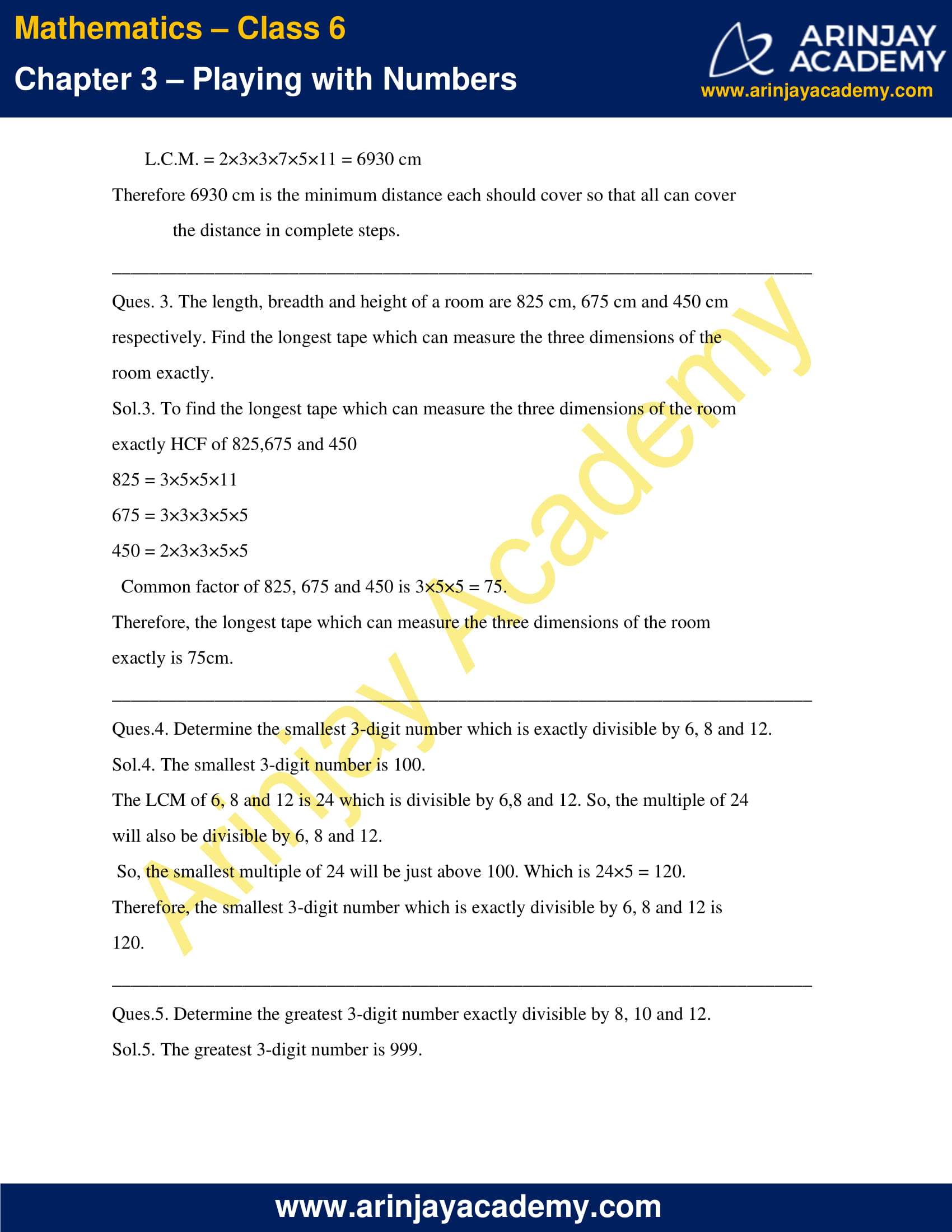 NCERT Solutions for Class 6 Maths Chapter 3 Exercise 3.7 image 2