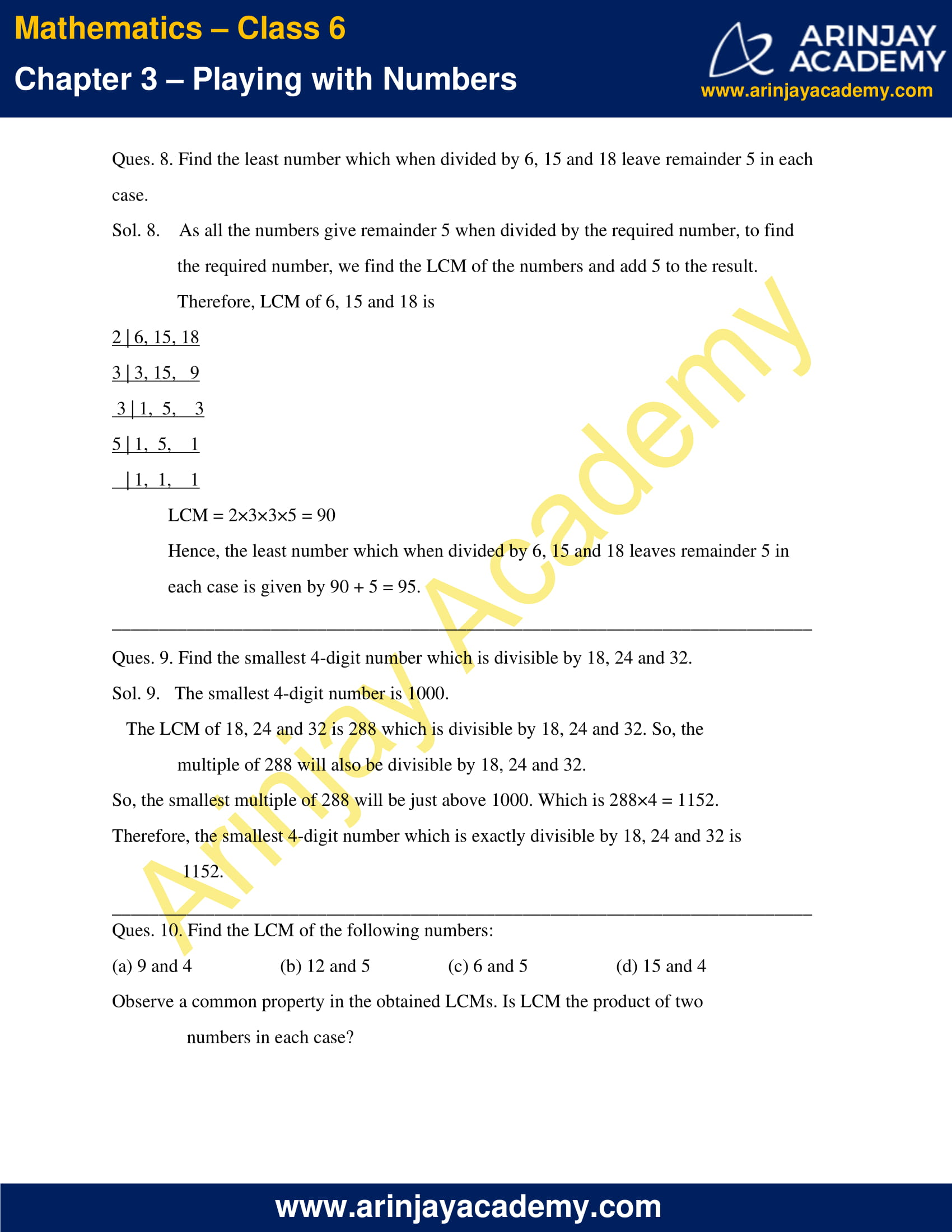NCERT Solutions for Class 6 Maths Chapter 3 Exercise 3.7 image 4
