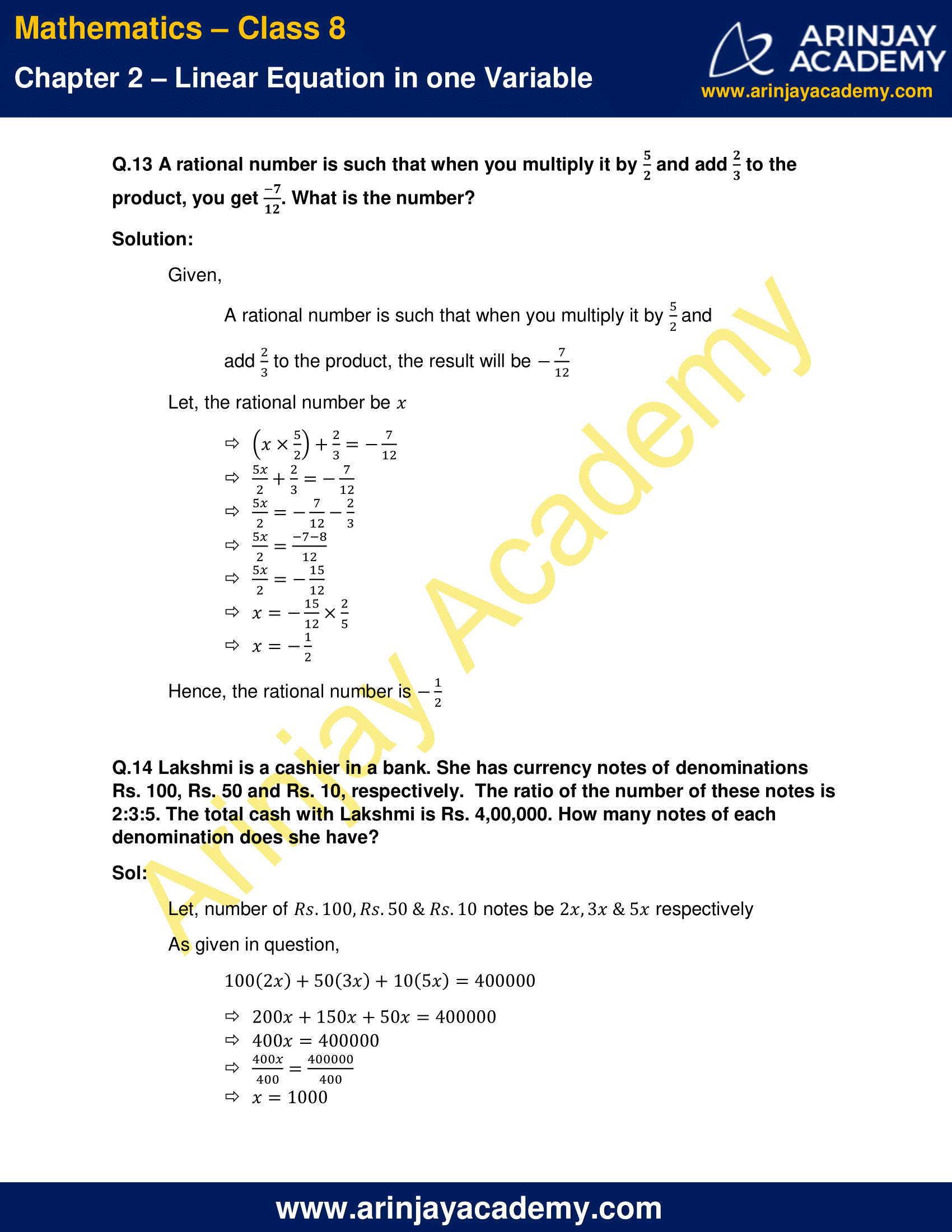 NCERT Solutions for Class 8 Maths Chapter 2 Exercise 2.2 image 8