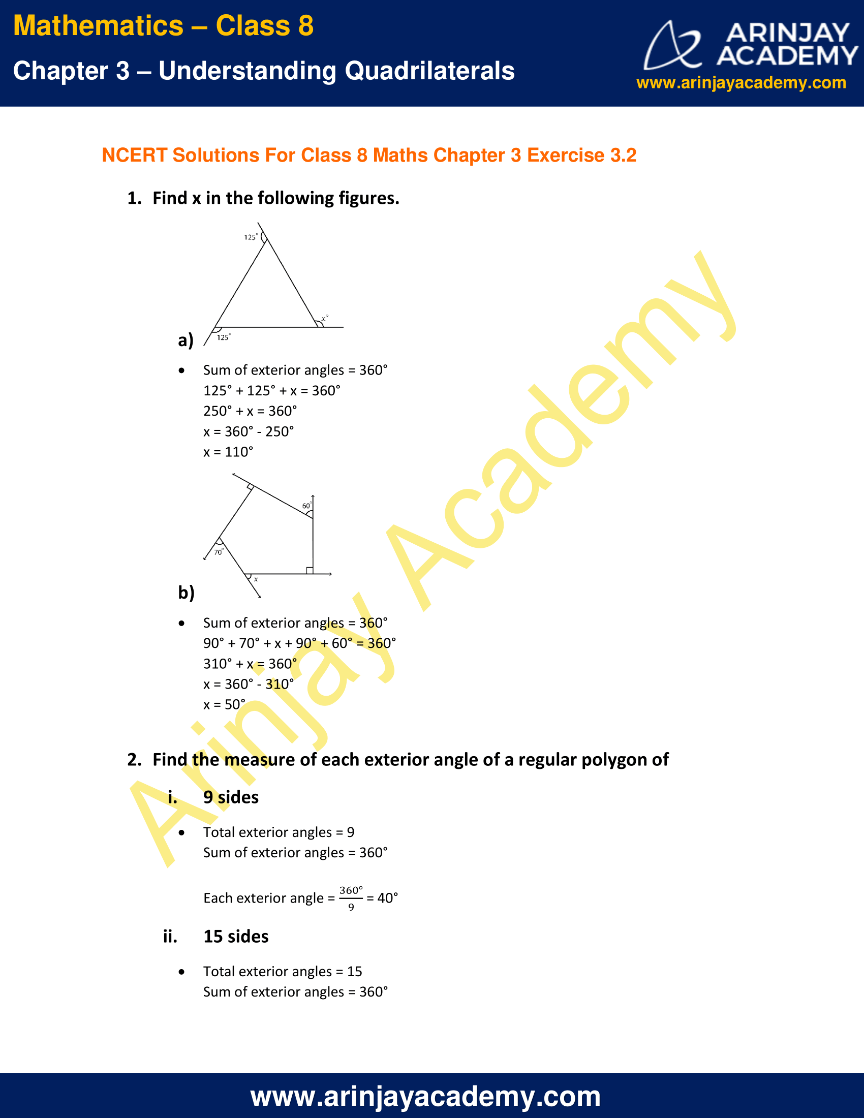 NCERT Solutions for Class 8 Maths Chapter 3 Exercise 3.2 image 1
