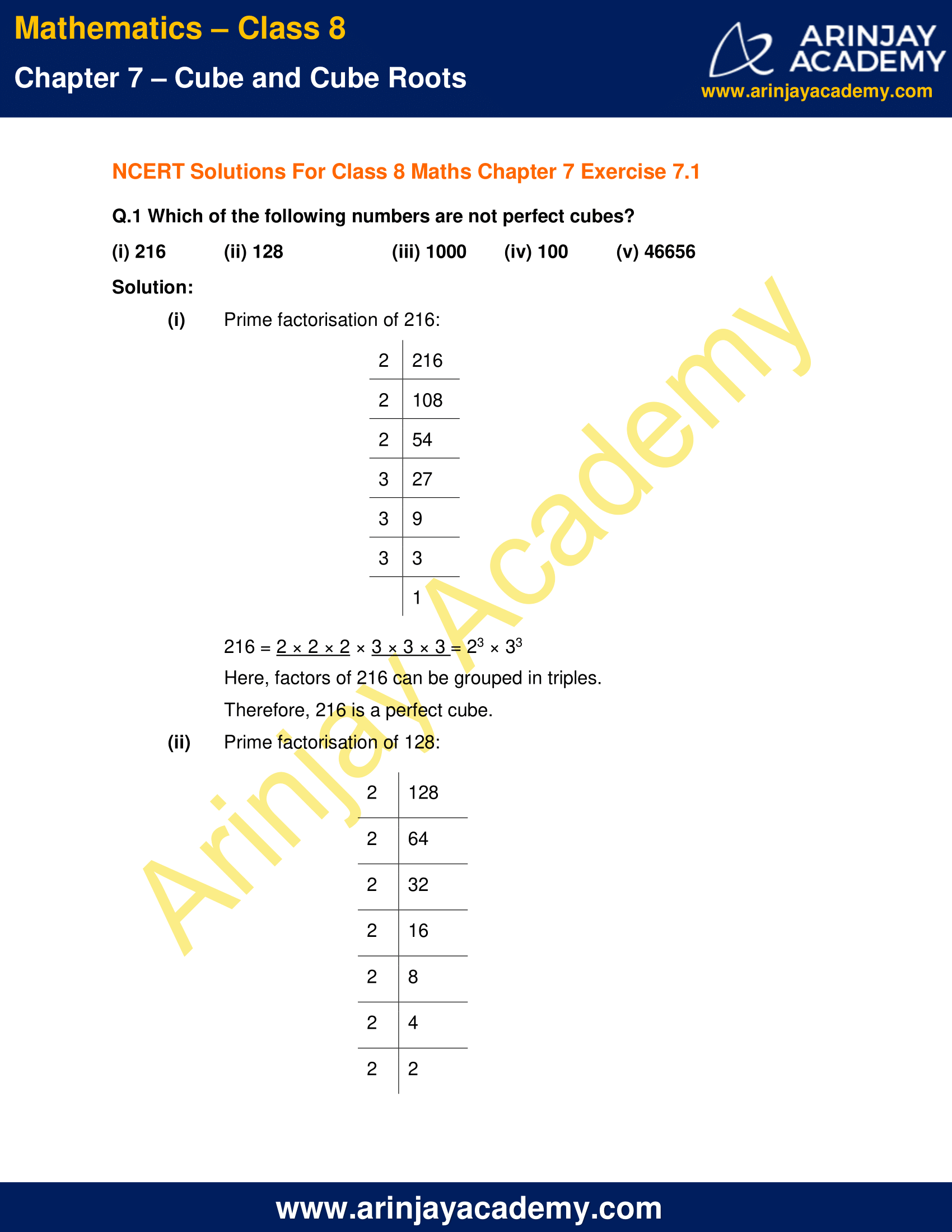 NCERT Solutions for Class 8 Maths Chapter 7 Exercise 7.1 image 1