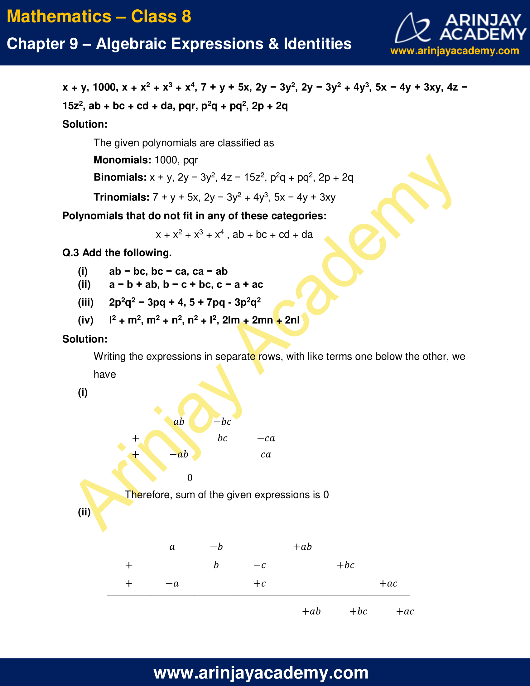 NCERT Solutions for Class 8 Maths Chapter 9 Exercise 9.1 image 2