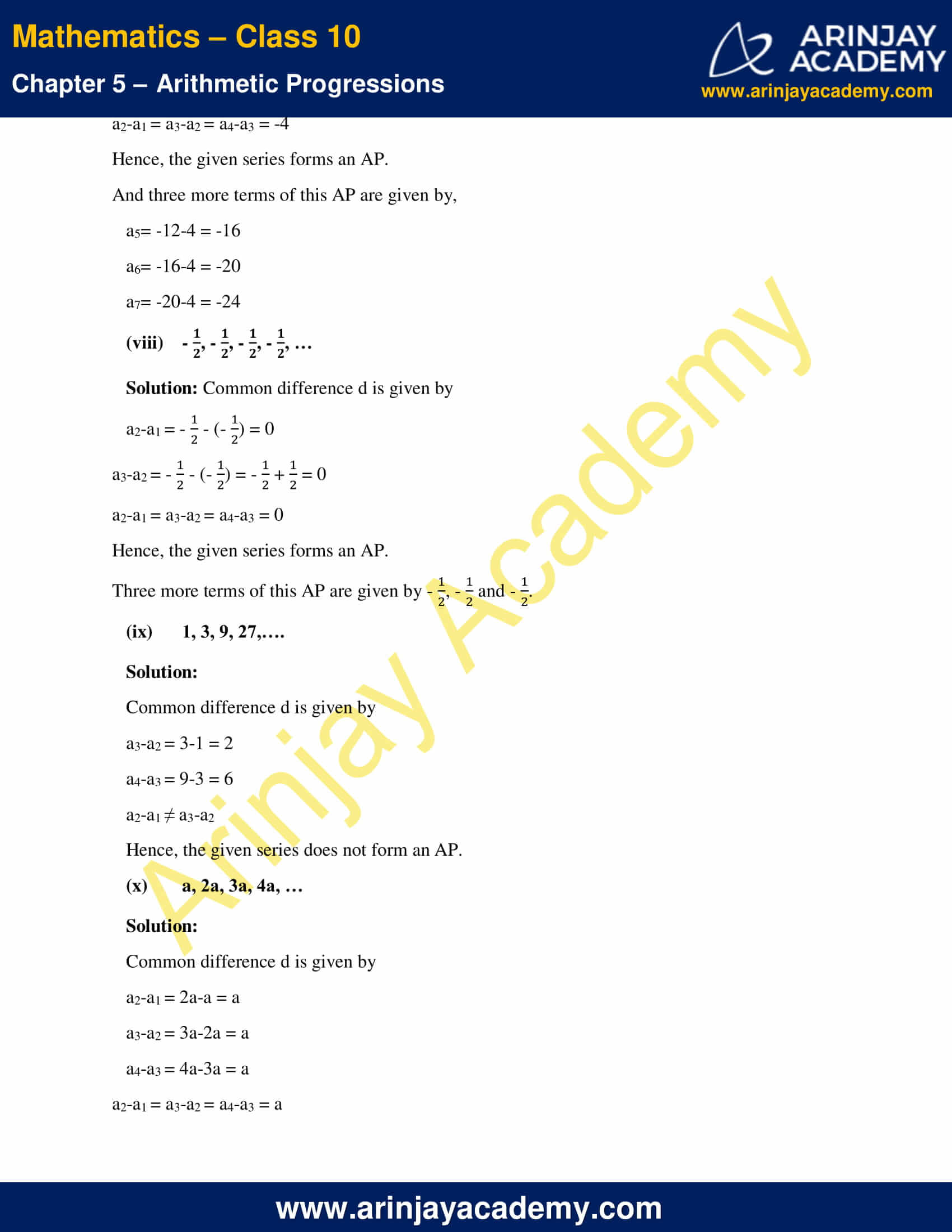 NCERT Solutions For Class 10 Maths Chapter 5 Exercise 5.1 image 7