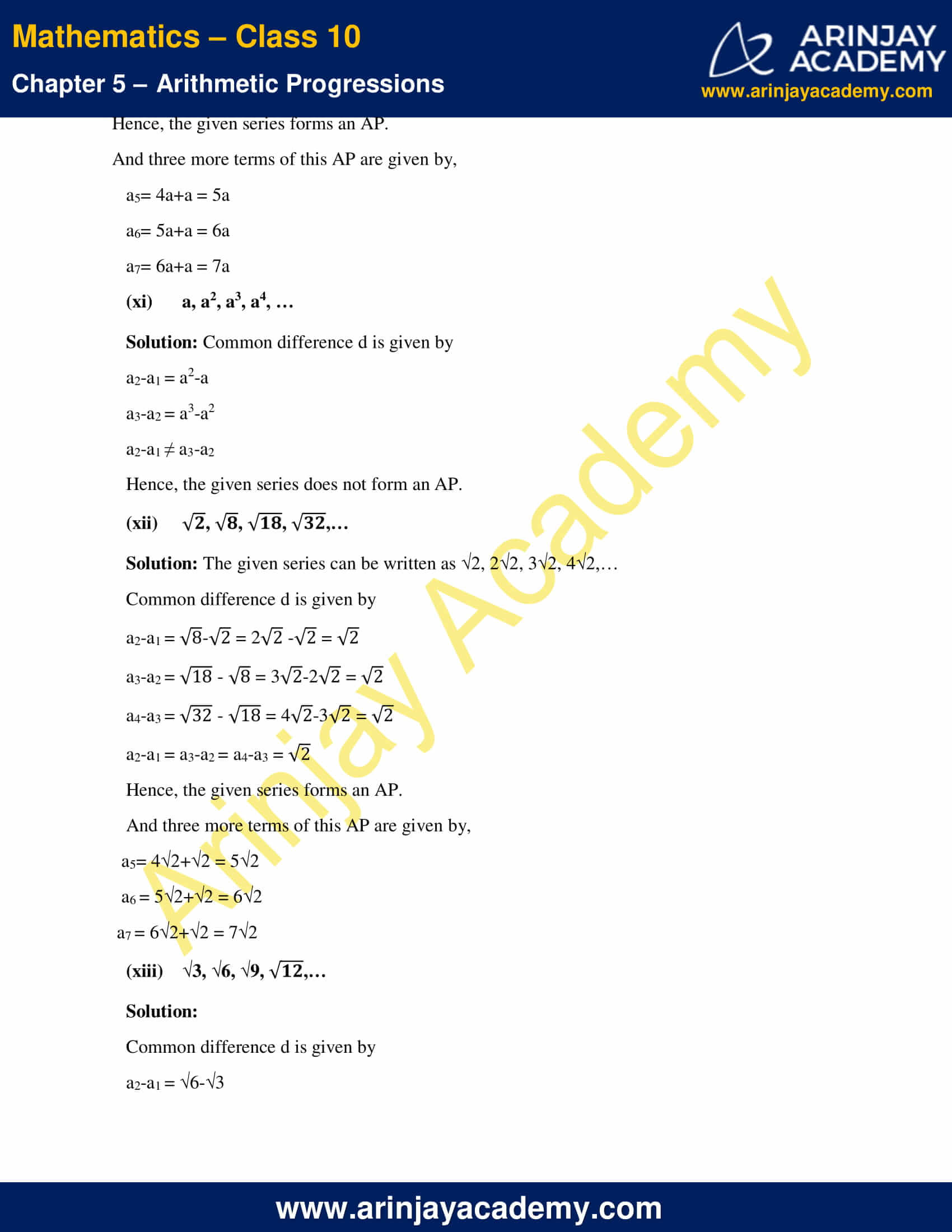 NCERT Solutions For Class 10 Maths Chapter 5 Exercise 5.1 image 8