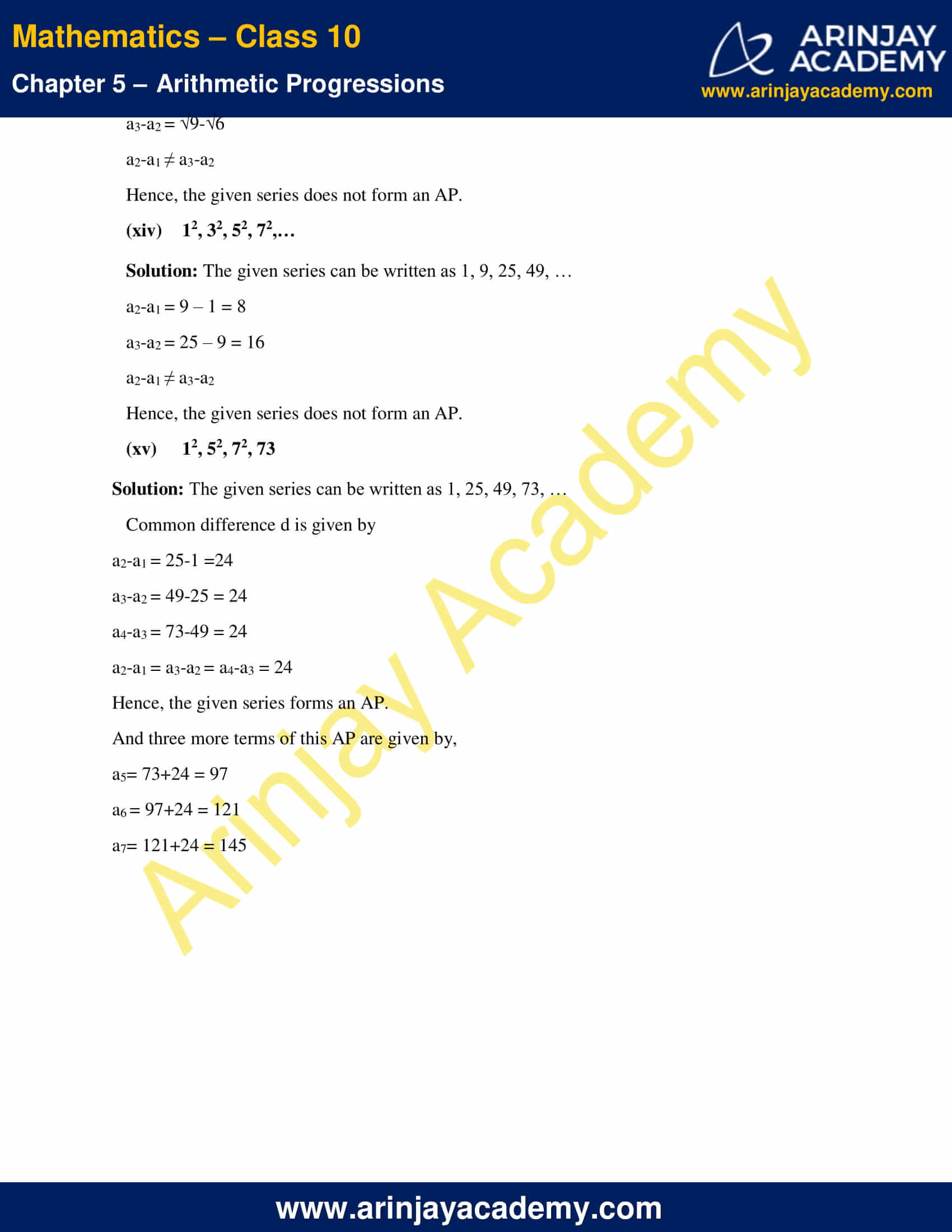 NCERT Solutions For Class 10 Maths Chapter 5 Exercise 5.1 image 9