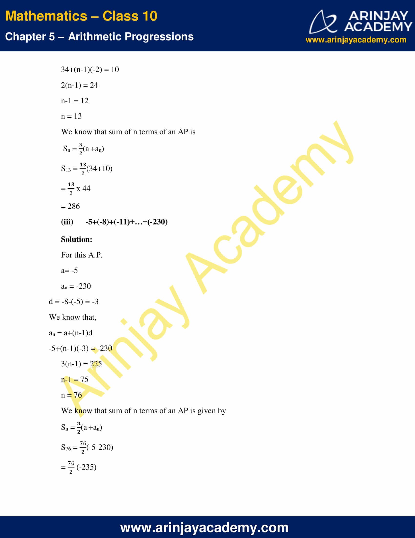 NCERT Solutions For Class 10 Maths Chapter 5 Exercise 5.3 image 4