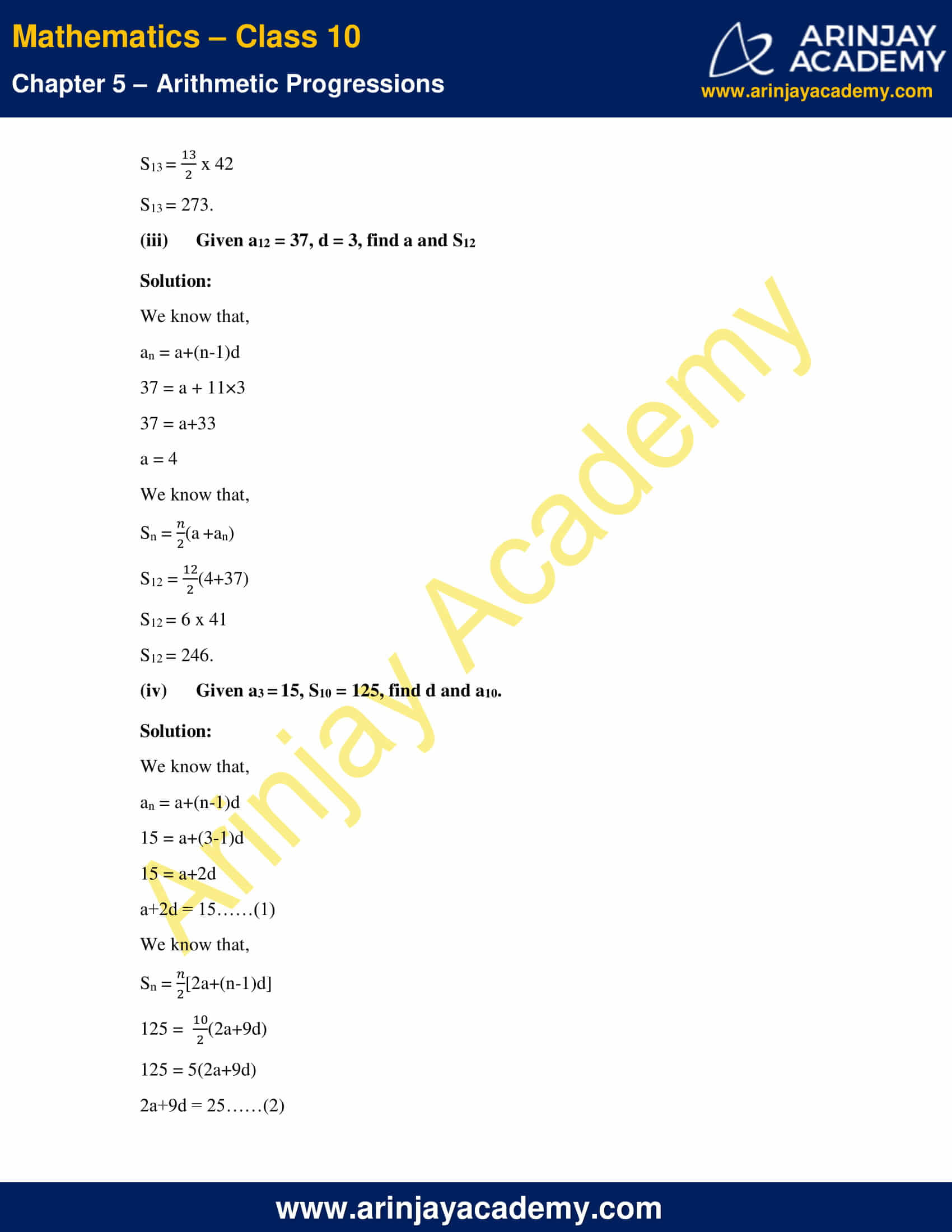 NCERT Solutions For Class 10 Maths Chapter 5 Exercise 5.3 image 6